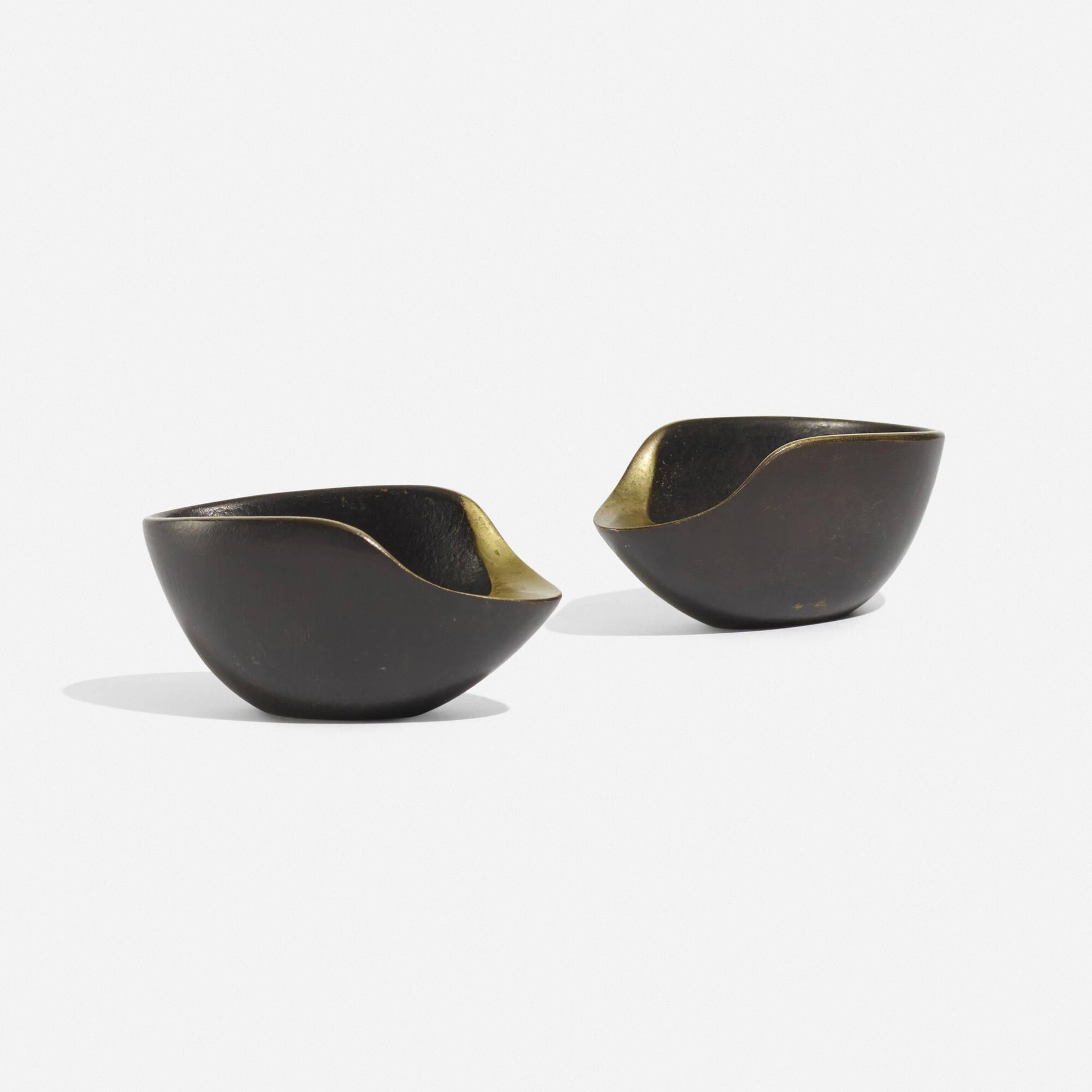 187: Carl Auböck II / ashtrays model 3597, pair (2 of 3)