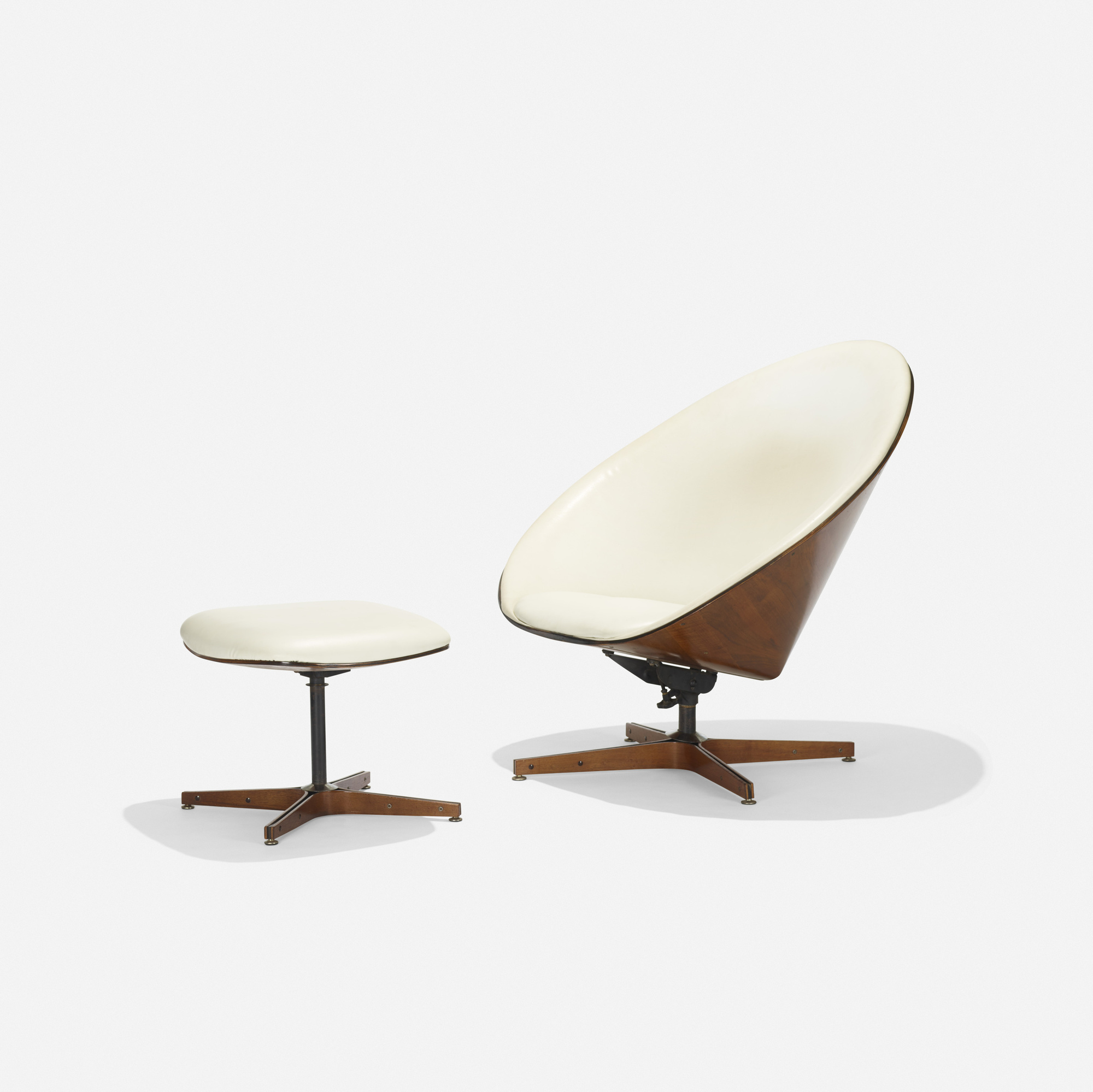 188: George Mulhauser / Lounge Chair And Ottoman (1 Of 3)