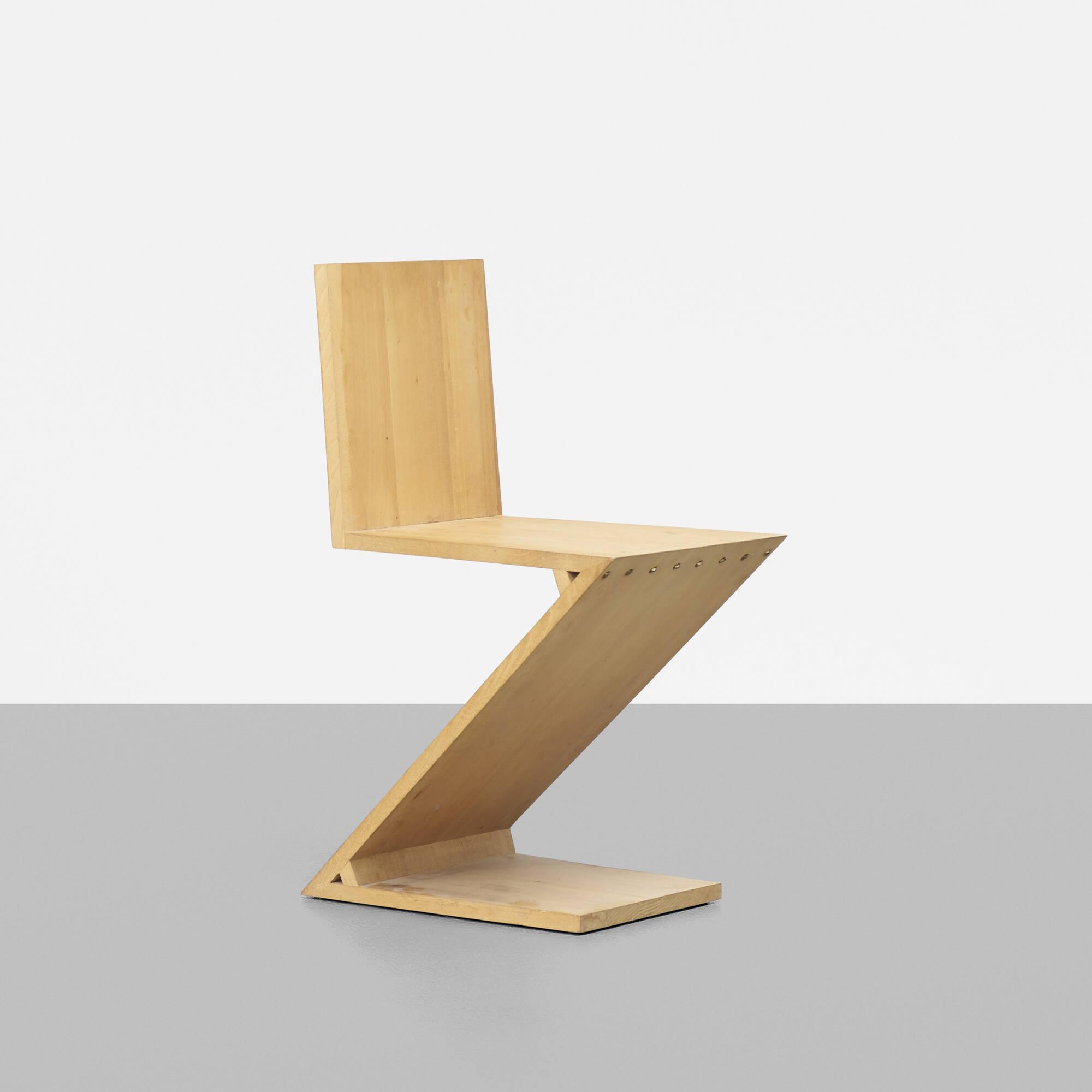 188 gerrit rietveld zig zag chair for Design stuhl zig zag
