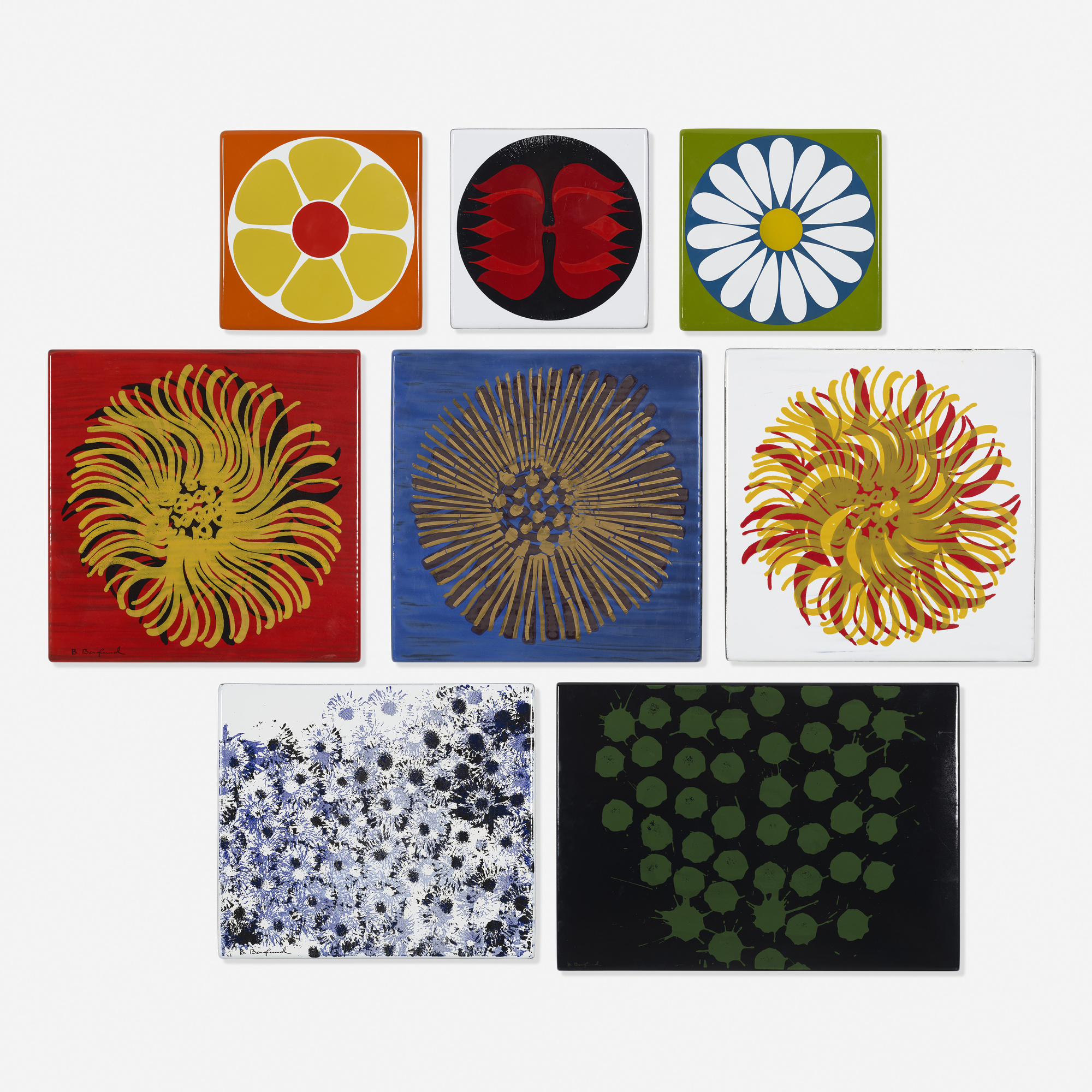 188: Bengt Berglund / collection of eight enamels (1 of 1)