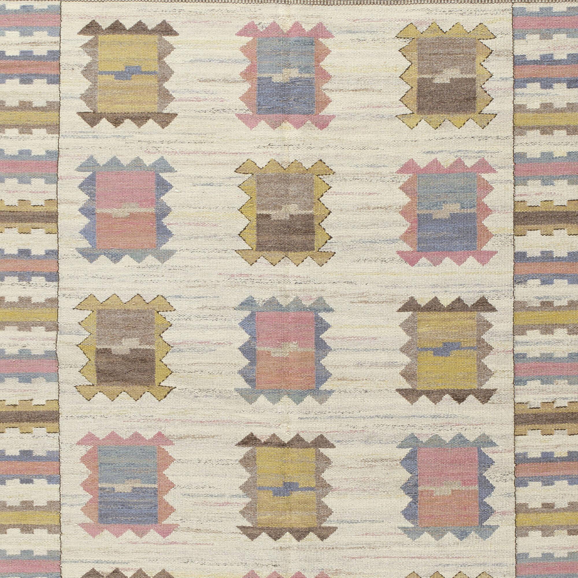 188: Märta Måås-Fjetterström / Ljusa Plador flatweave carpet (3 of 3)
