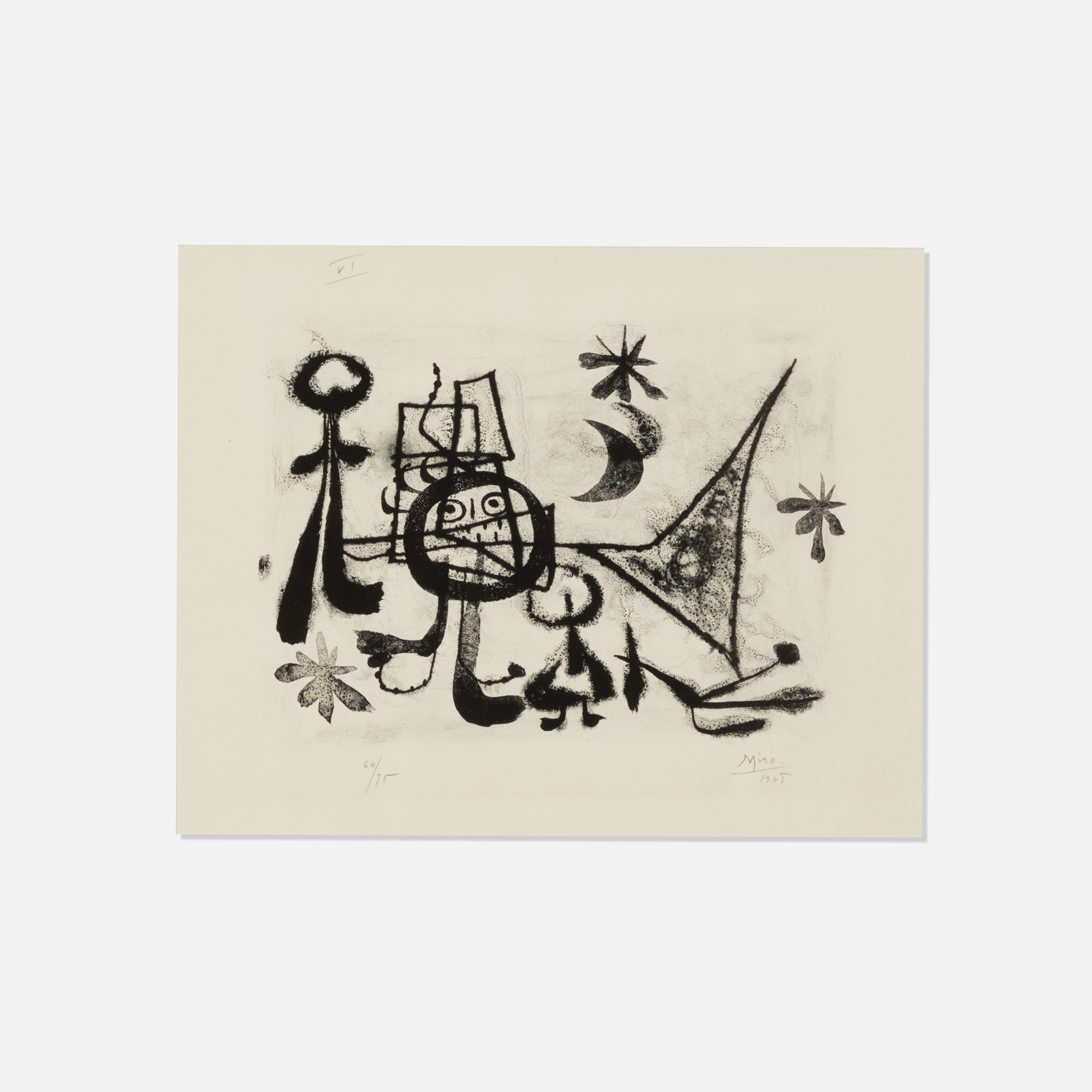 189: Joan Miró / Plate VI (from 13 Lithographies) (1 of 1)