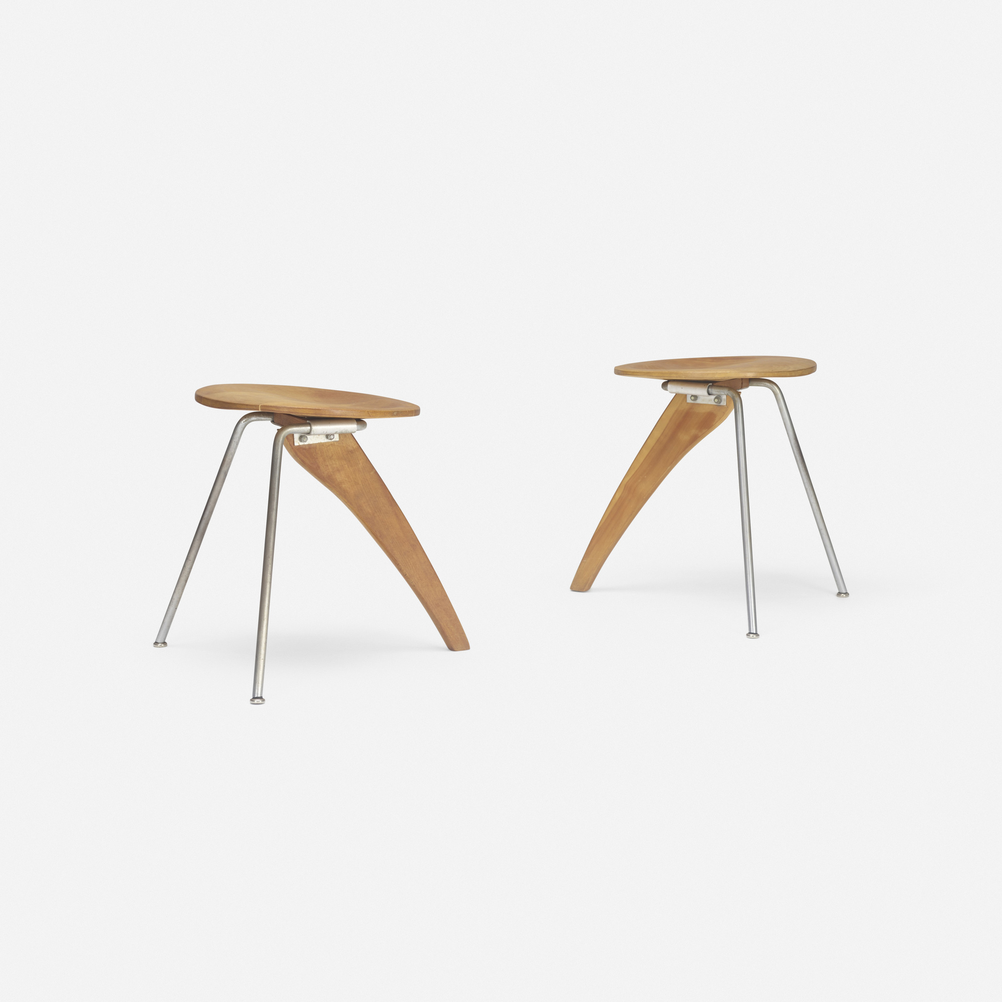 190: Isamu Noguchi / Rudder stools model IN-22, pair (2 of 3)