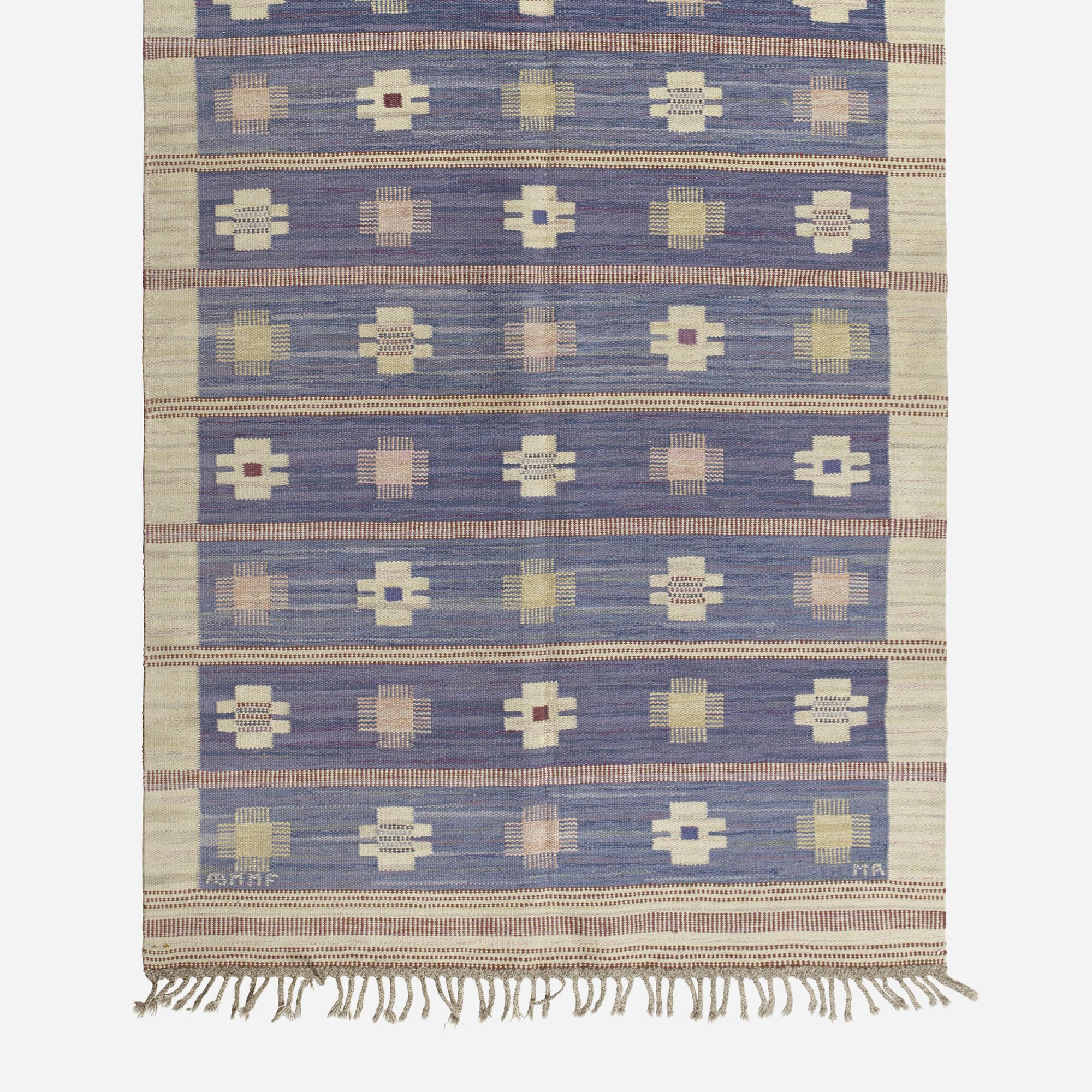190: Marianne Richter / Blåklint flatweave carpet (2 of 2)