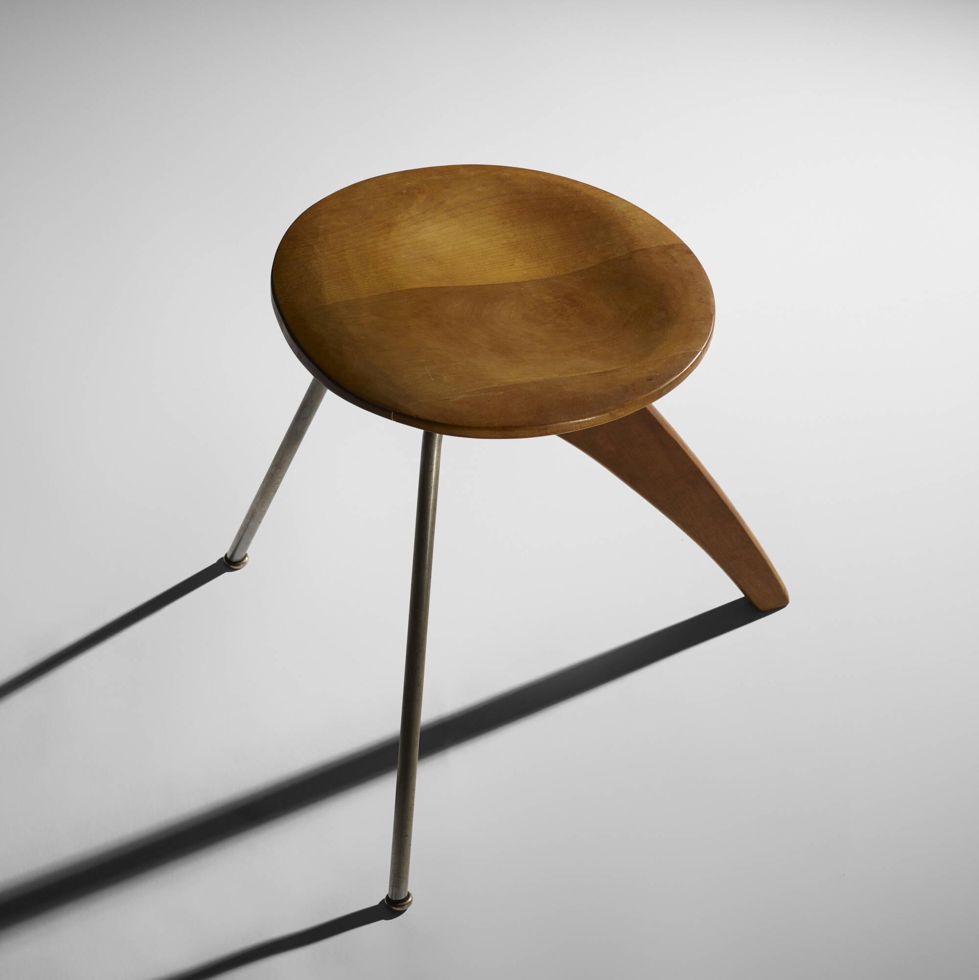190: Isamu Noguchi / Rudder stools model IN-22, pair (3 of 3)