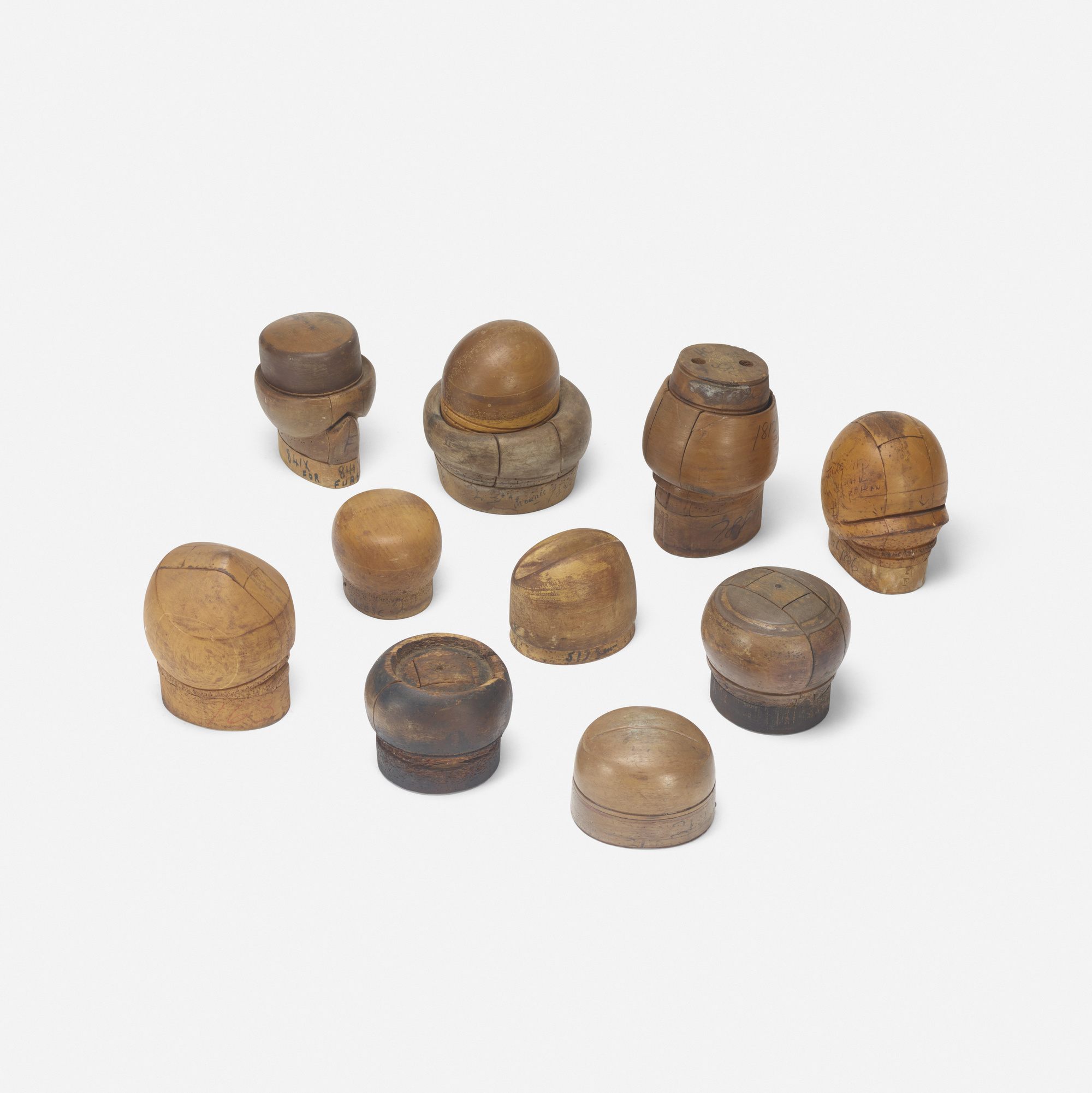 191: 20th Century / collection of ten hat molds (1 of 2)