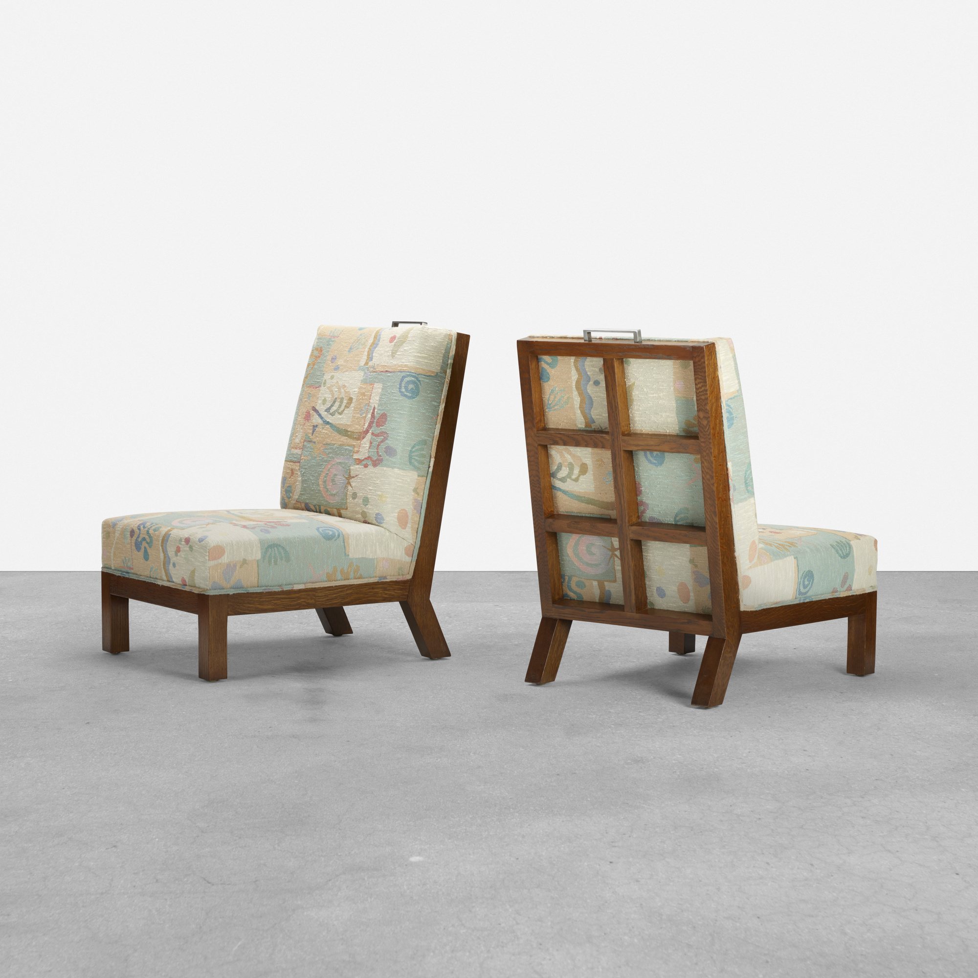 191: Samuel Marx / pair of lounge chairs from the Morton D. May House (1 of 3)