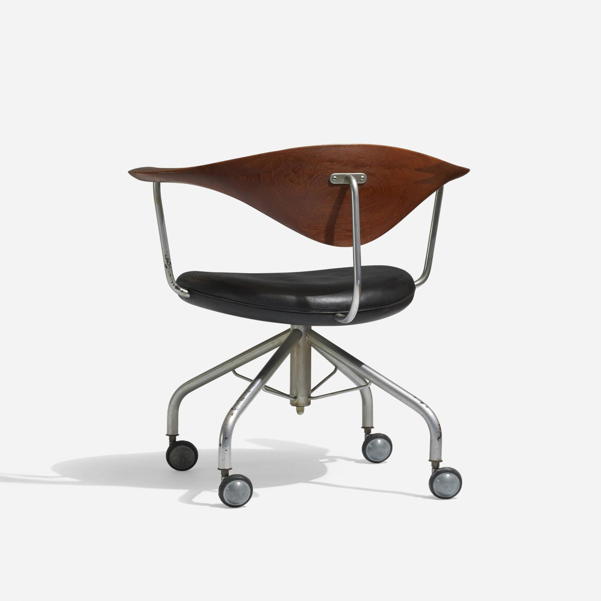 191 Hans J Wegner Swivel Office chair Scandinavian Design 5