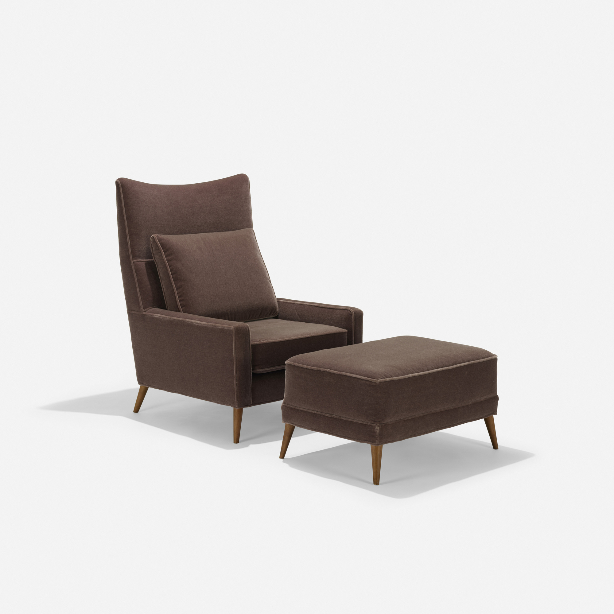 192: Paul McCobb / lounge chair and ottoman, model 314 (1 of 2)