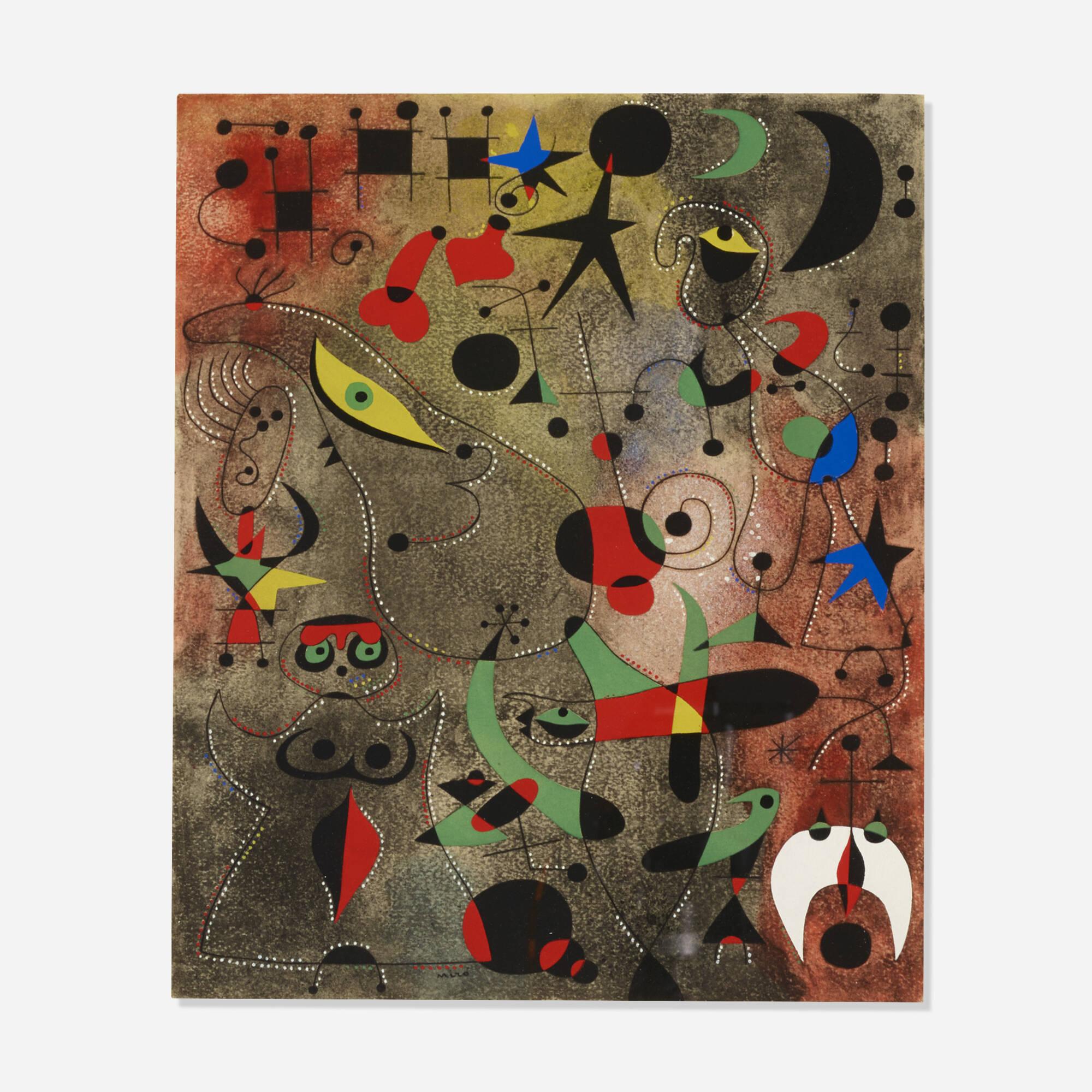192: Joan Miró / Le Reveil au petit jour (Plate XIV from the Constellations portfolio) (1 of 2)