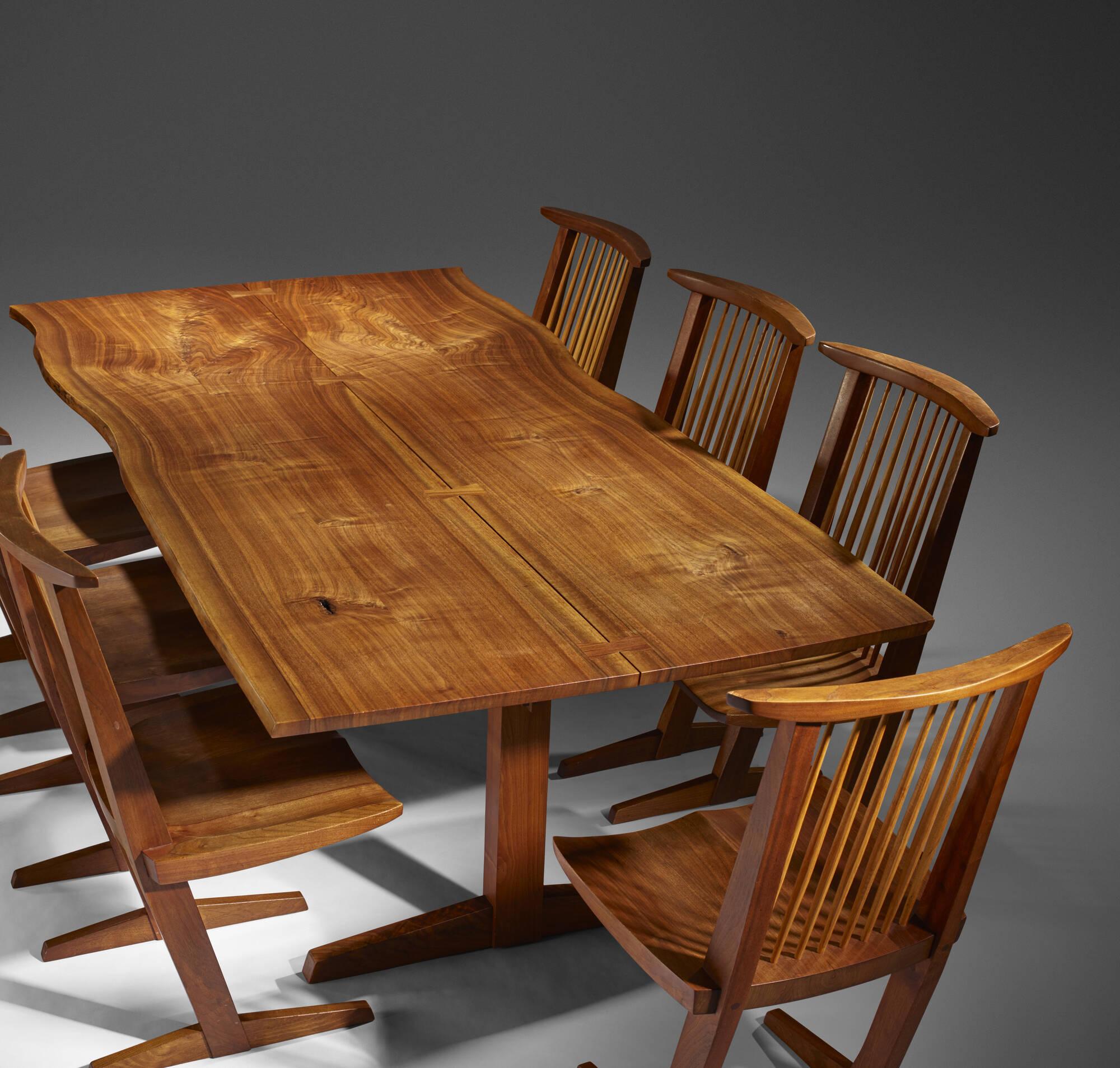 192 George Nakashima Trestle Dining Table 2 Of 5