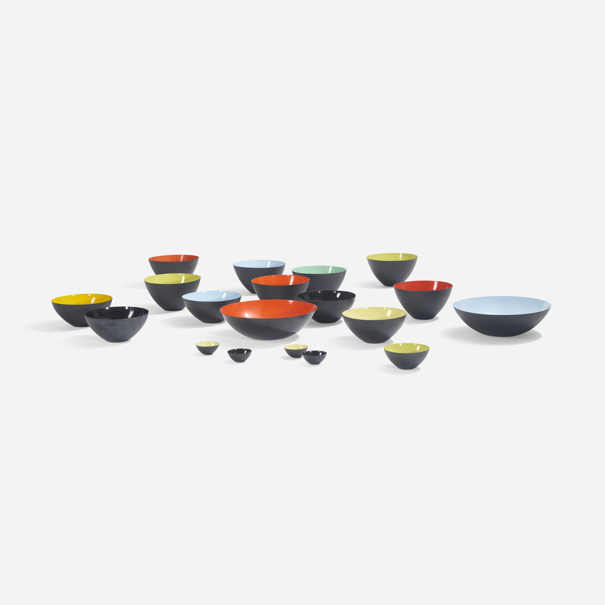 192: Herbert Krenchel / collection of nineteen Krenit bowls (2 of 3)