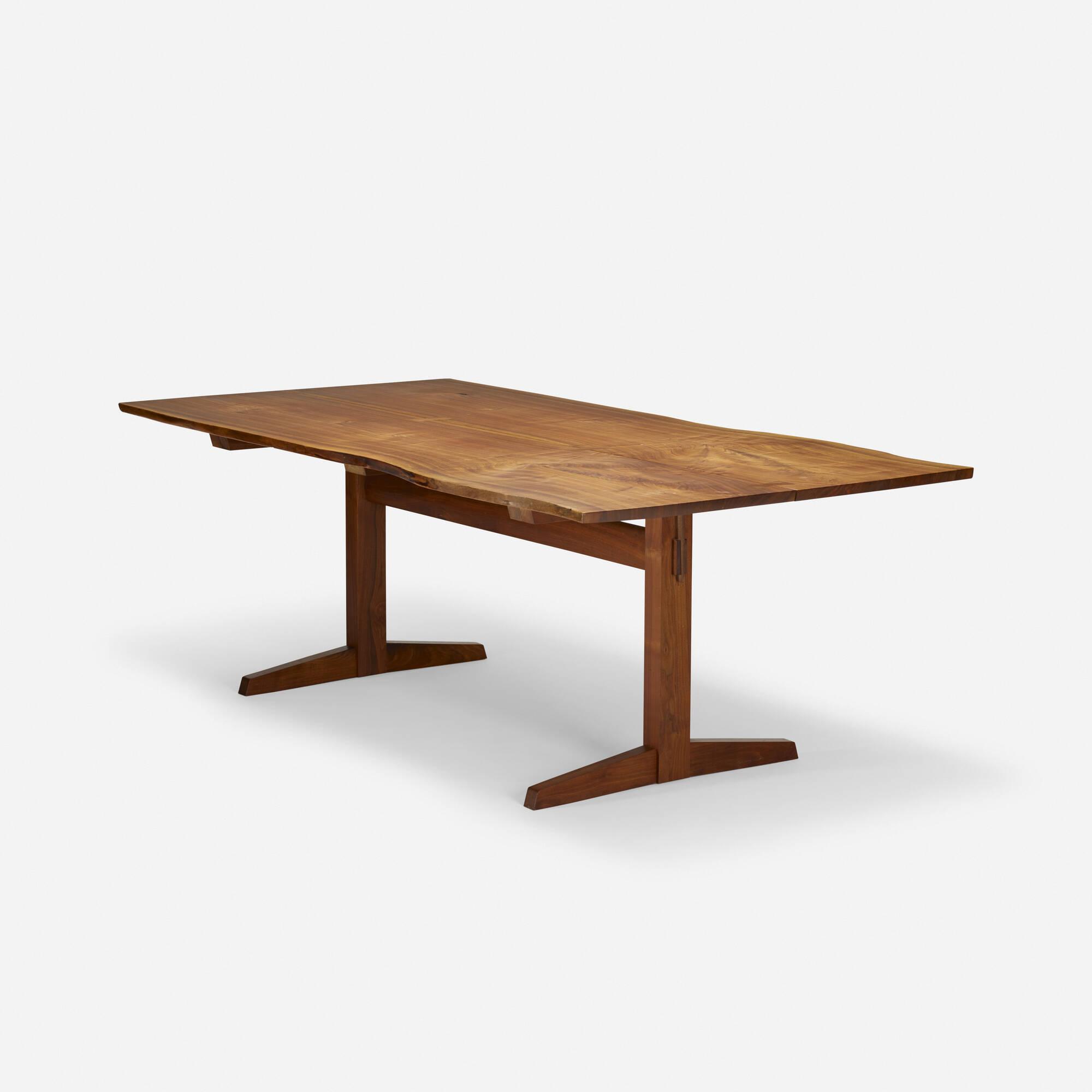 192 George Nakashima Trestle Dining Table 5 Of