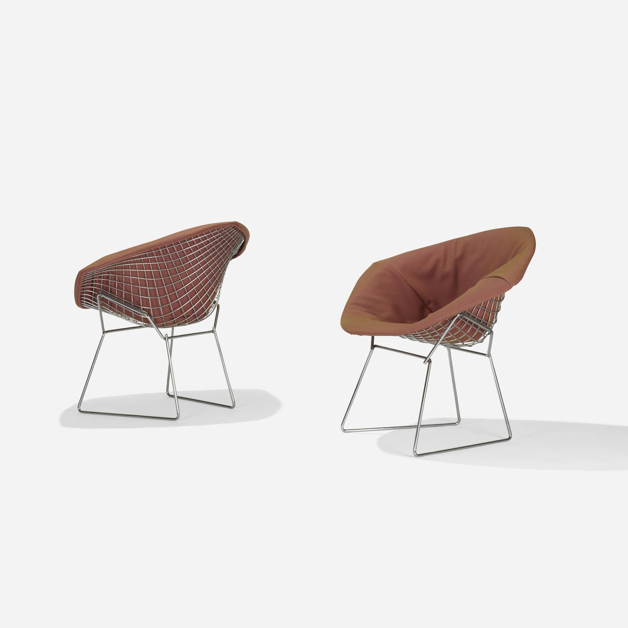 193: Harry Bertoia / Diamond Chairs, Pair (1 Of 2)