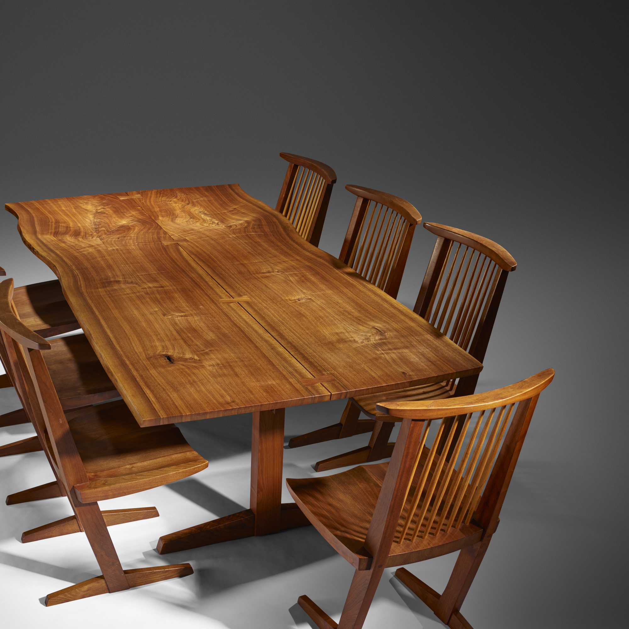 Superieur ... 193: George Nakashima / Conoid Dining Chairs, Set Of Eight (3 Of 4