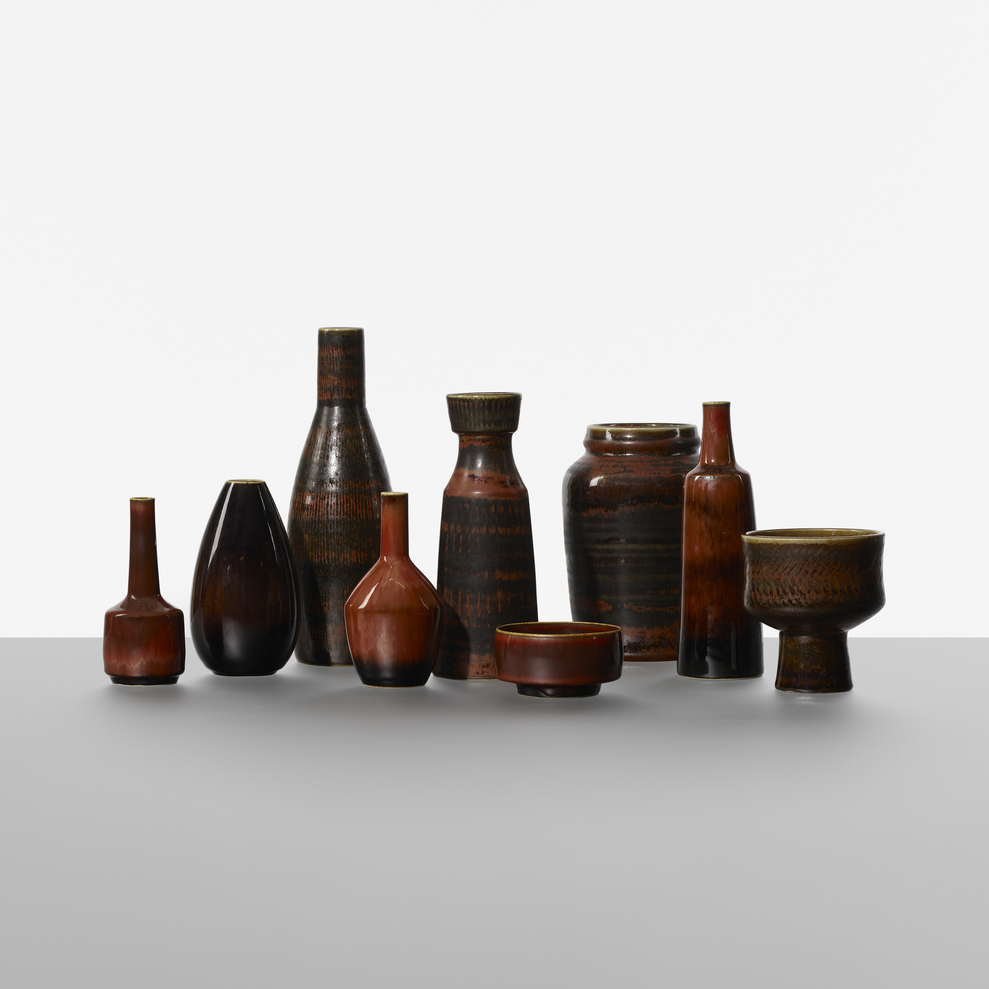 194: Carl-Harry Stalhane / collection of nine vases (1 of 3)