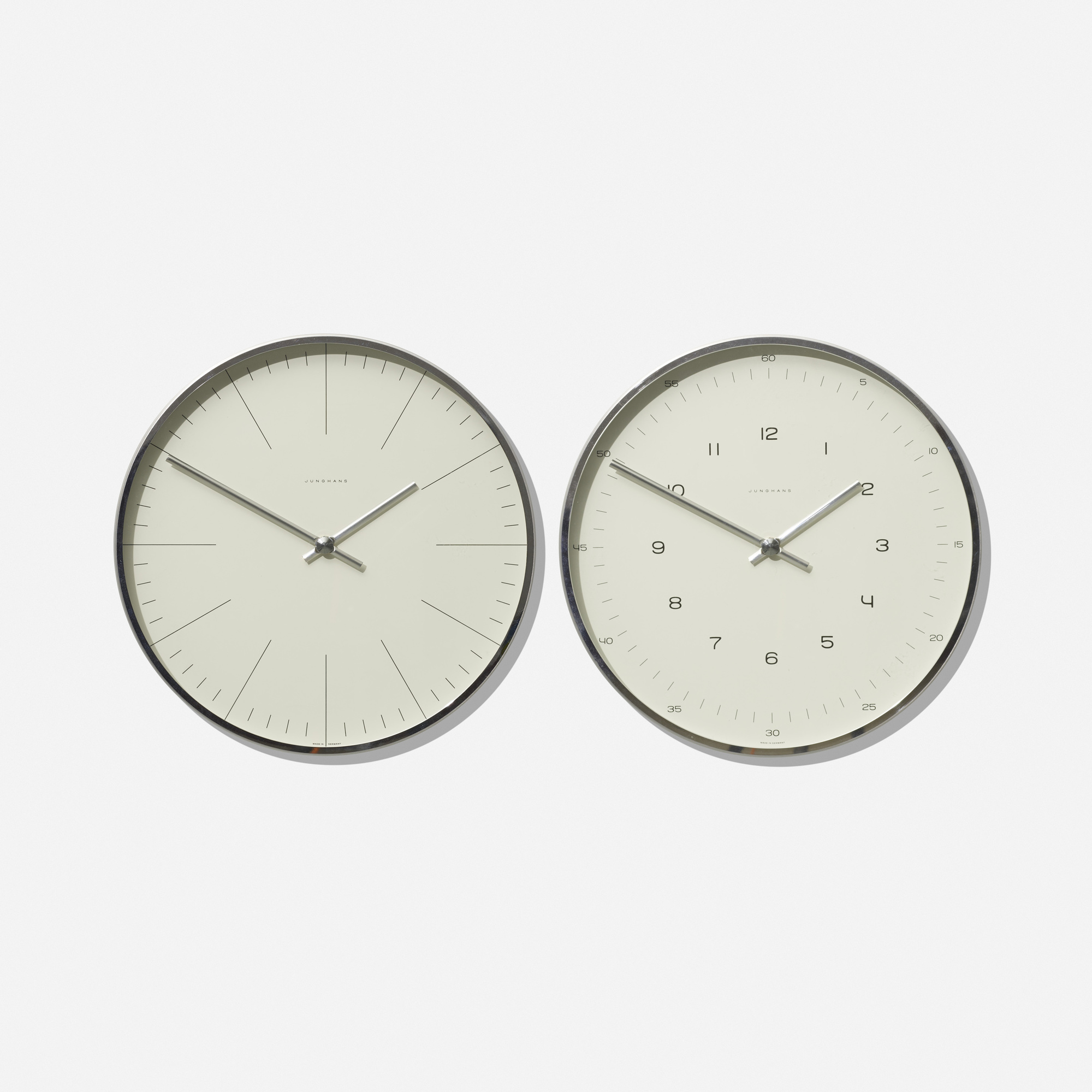 194: Max Bill / pair of wall clocks (1 of 1)