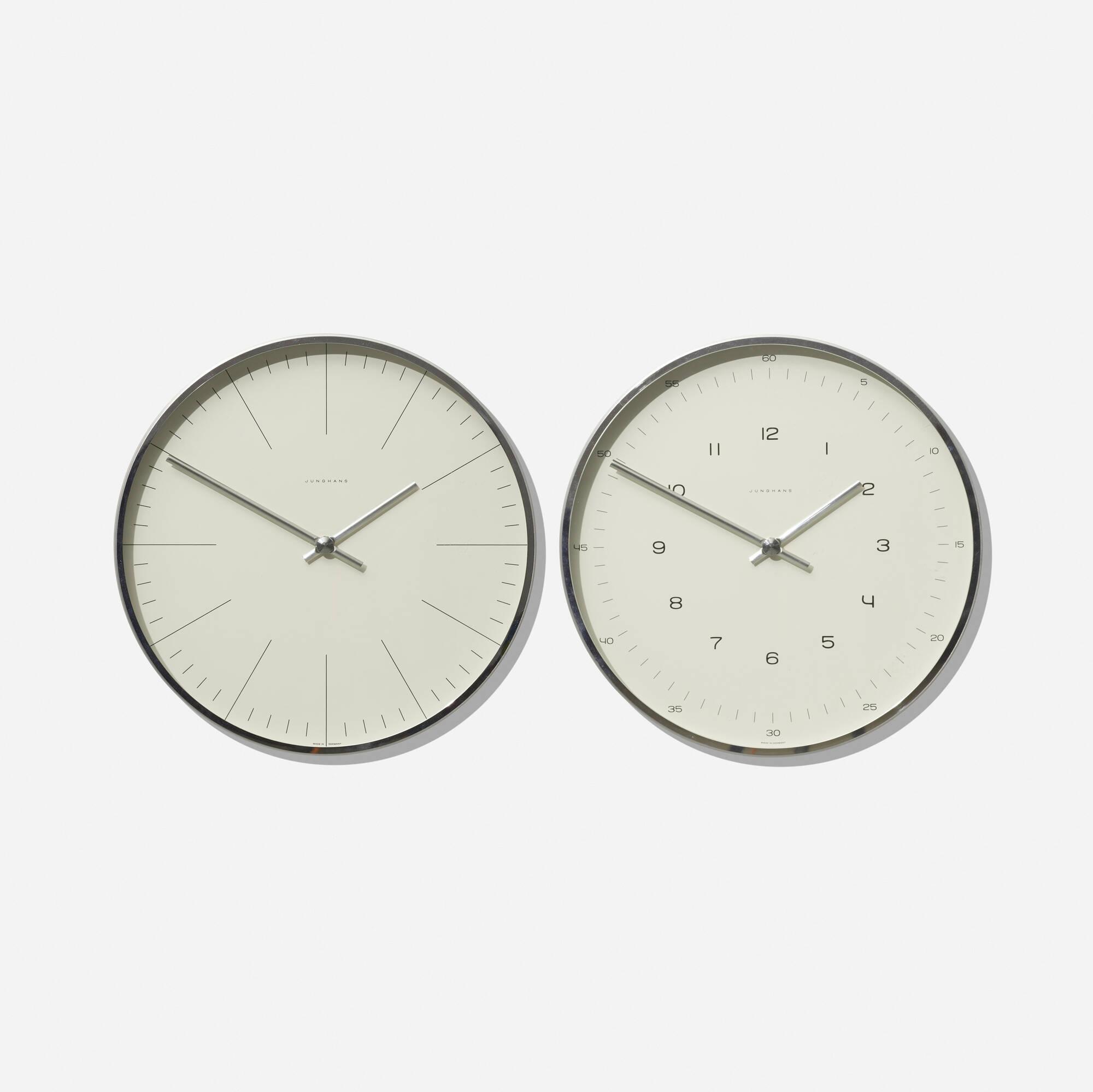 194: Max Bill / pair of wall clocks (1 of 1)