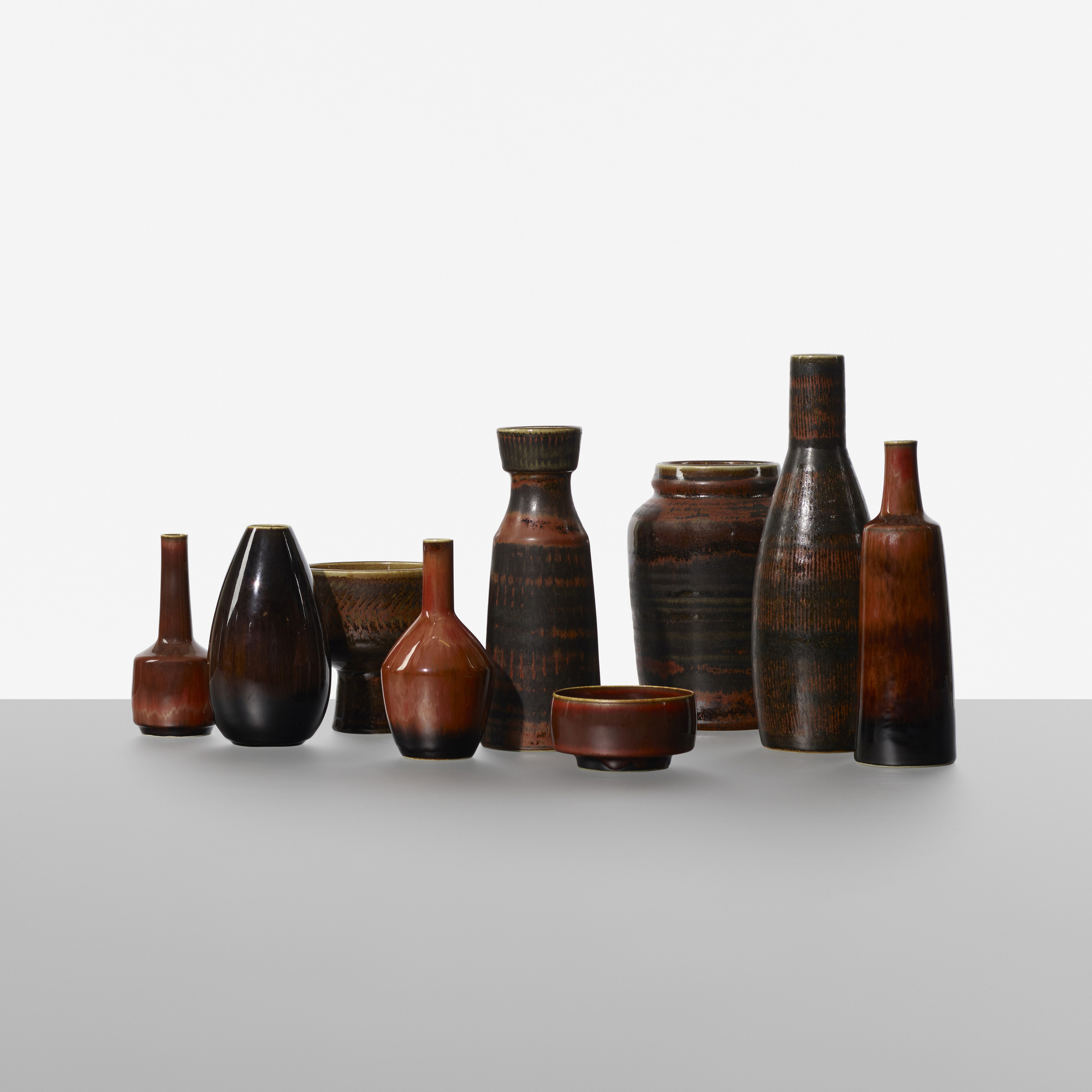 194: Carl-Harry Stalhane / collection of nine vases (2 of 3)