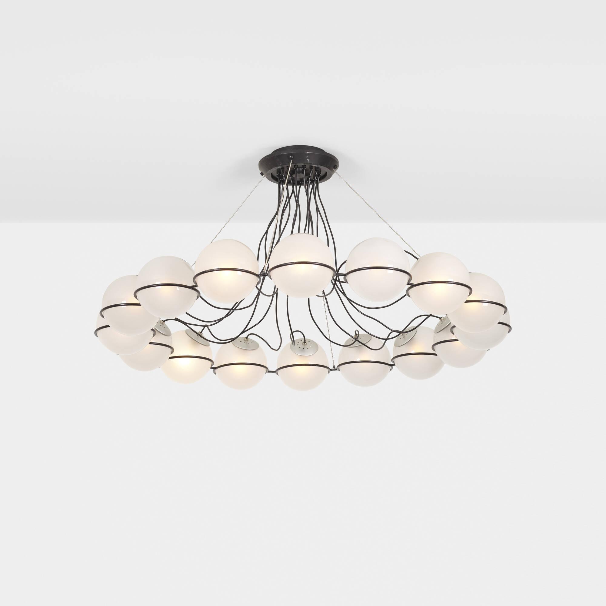 196: Gino Sarfatti / chandelier, model 2109/16 (1 of 1)