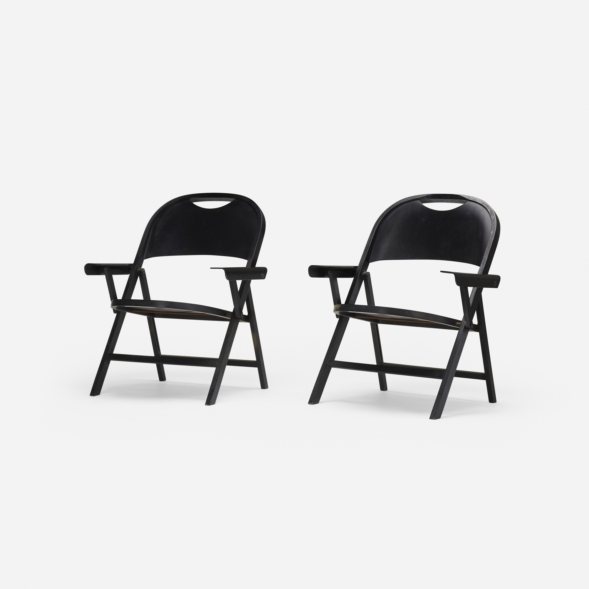 196: Achille and Pier Giacomo Castiglioni / Ginevra folding chairs, pair (1 of 3)
