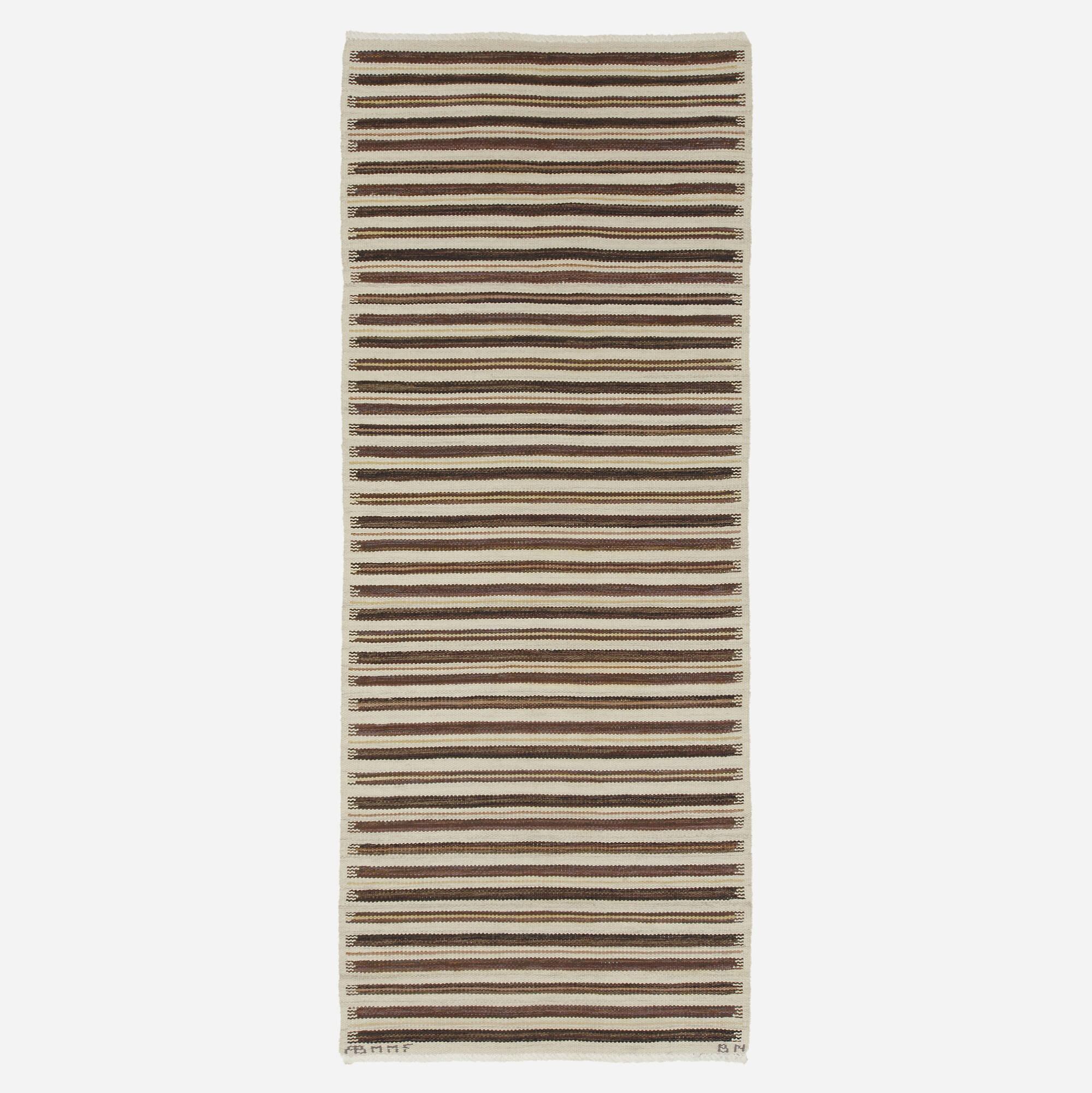 196: Barbro Nilsson / Randig Med Tvist flatweave carpet (1 of 1)