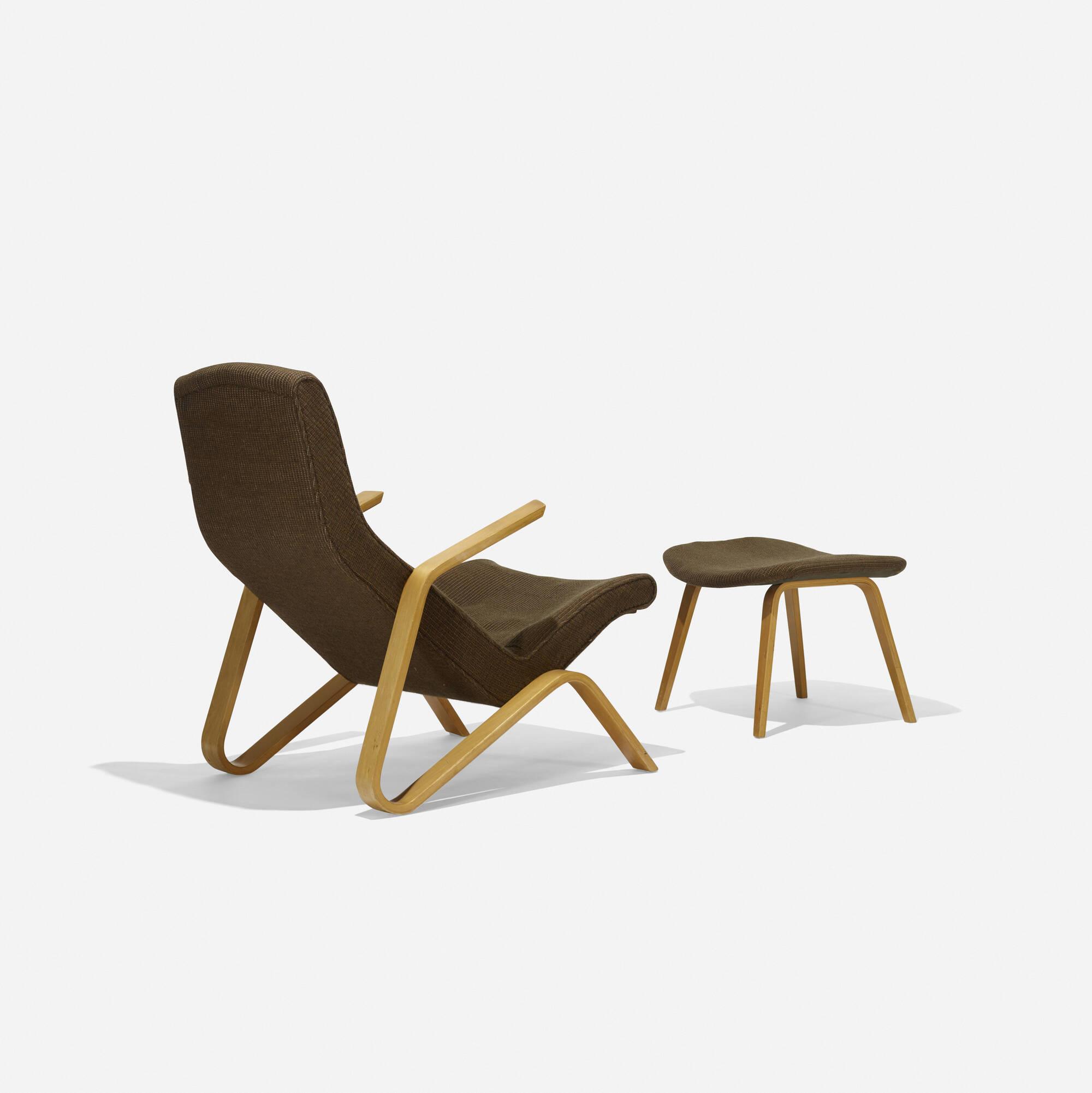... 196: Eero Saarinen / Grasshopper Chair And Ottoman (2 Of 3)