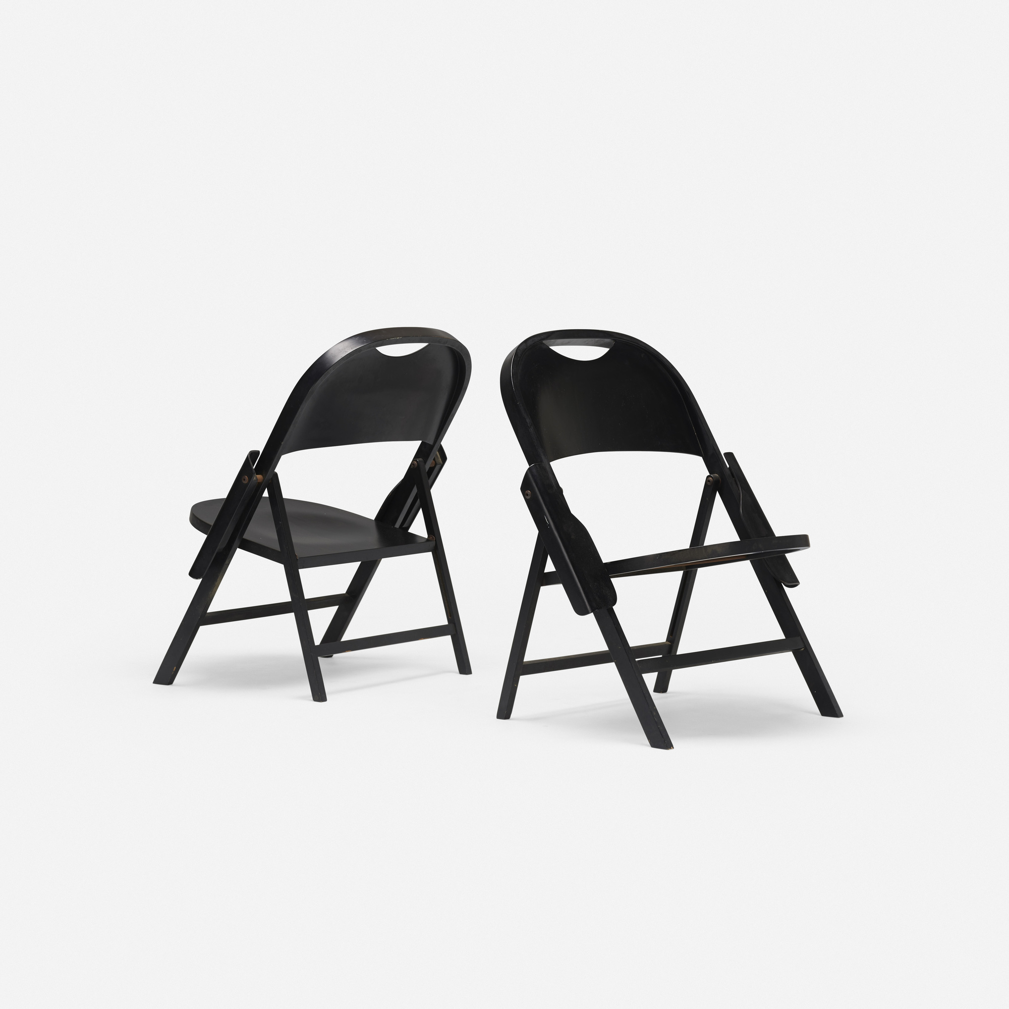 196: Achille and Pier Giacomo Castiglioni / Ginevra folding chairs, pair (2 of 3)