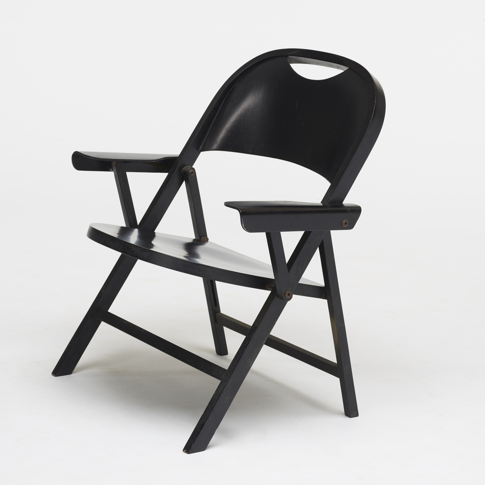 196: Achille and Pier Giacomo Castiglioni / Ginevra folding chairs, pair (3 of 3)