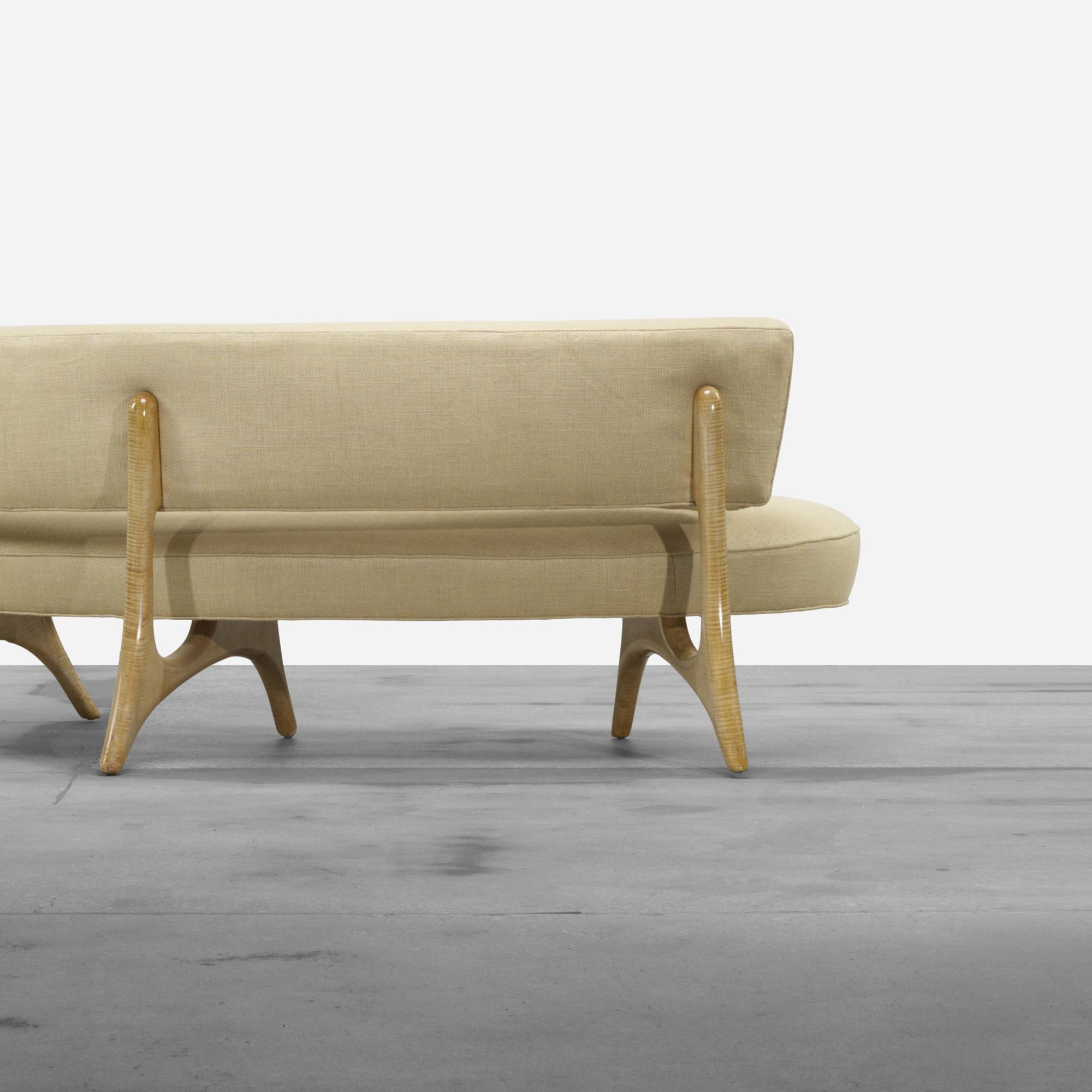 196 Vladimir Kagan Floating Curve sofa Living Contemporary