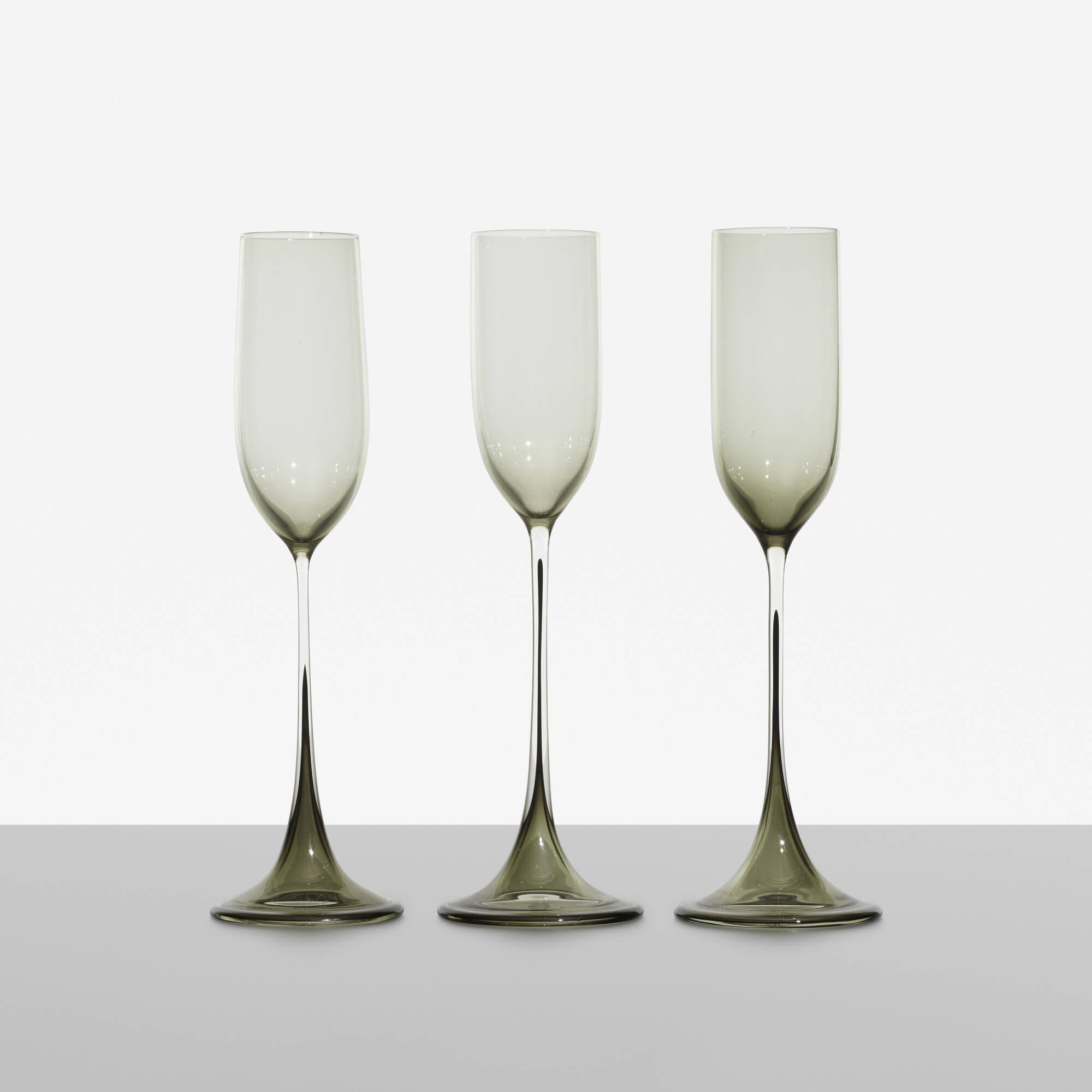 197: Nils Landberg / Tulpa glasses, set of three (1 of 2)
