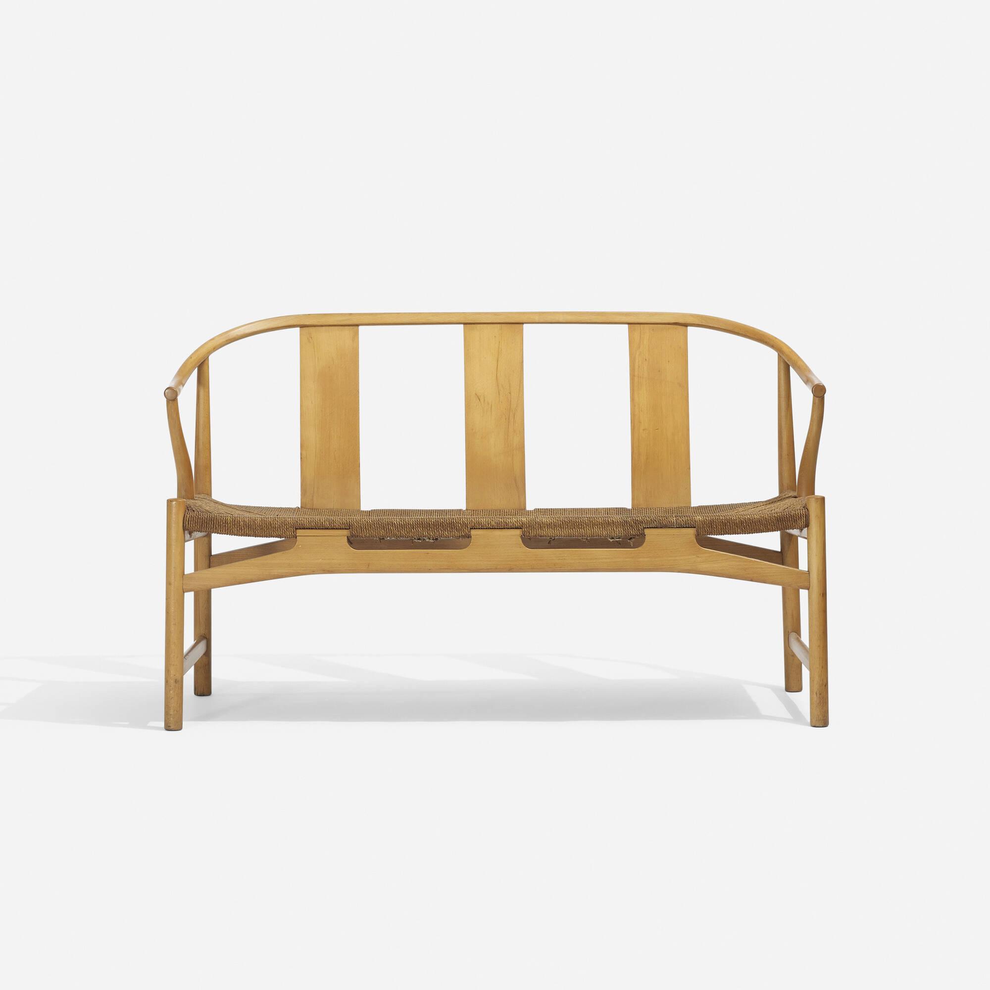 197 hans j wegner chinese settee. Black Bedroom Furniture Sets. Home Design Ideas