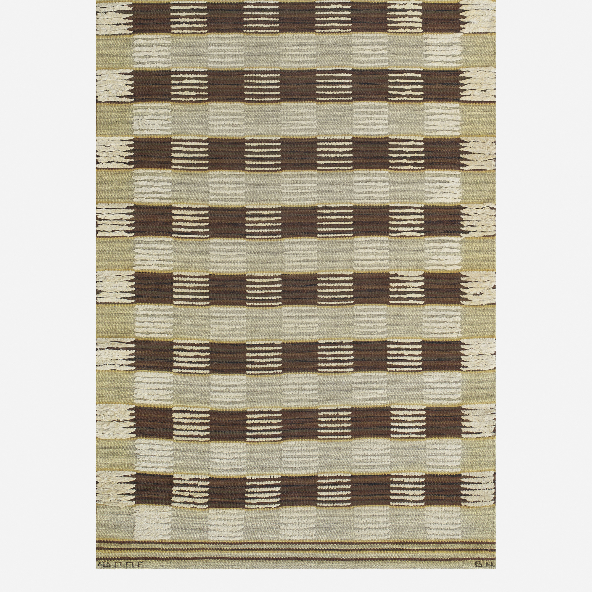 197: Barbro Nilsson / Schackrutig half-pile carpet (2 of 2)