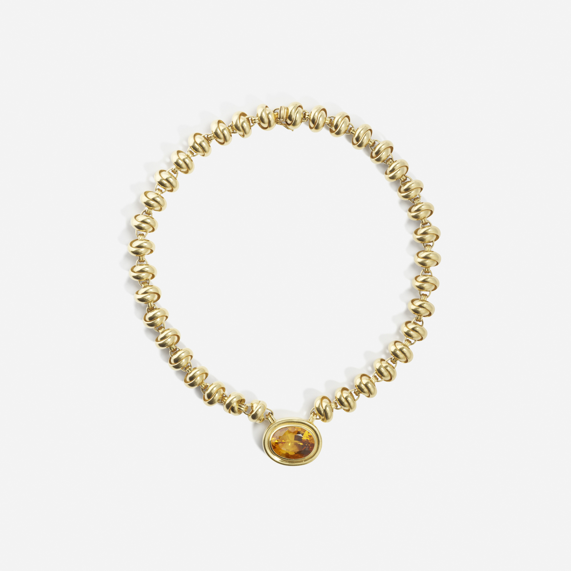 199: Paloma Picasso for Tiffany & Co. / A gold and citrine bracelet (1 of 2)