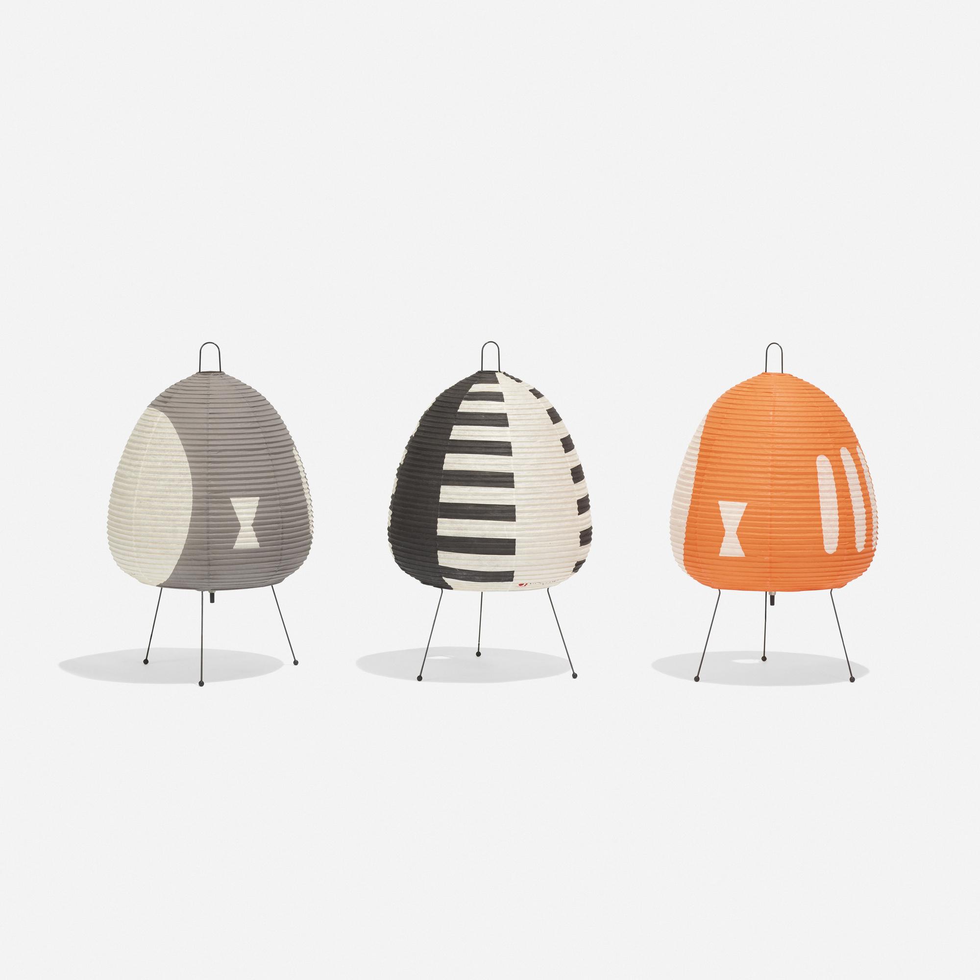 199: ISAMU NOGUCHI, collection of three Akari lamps