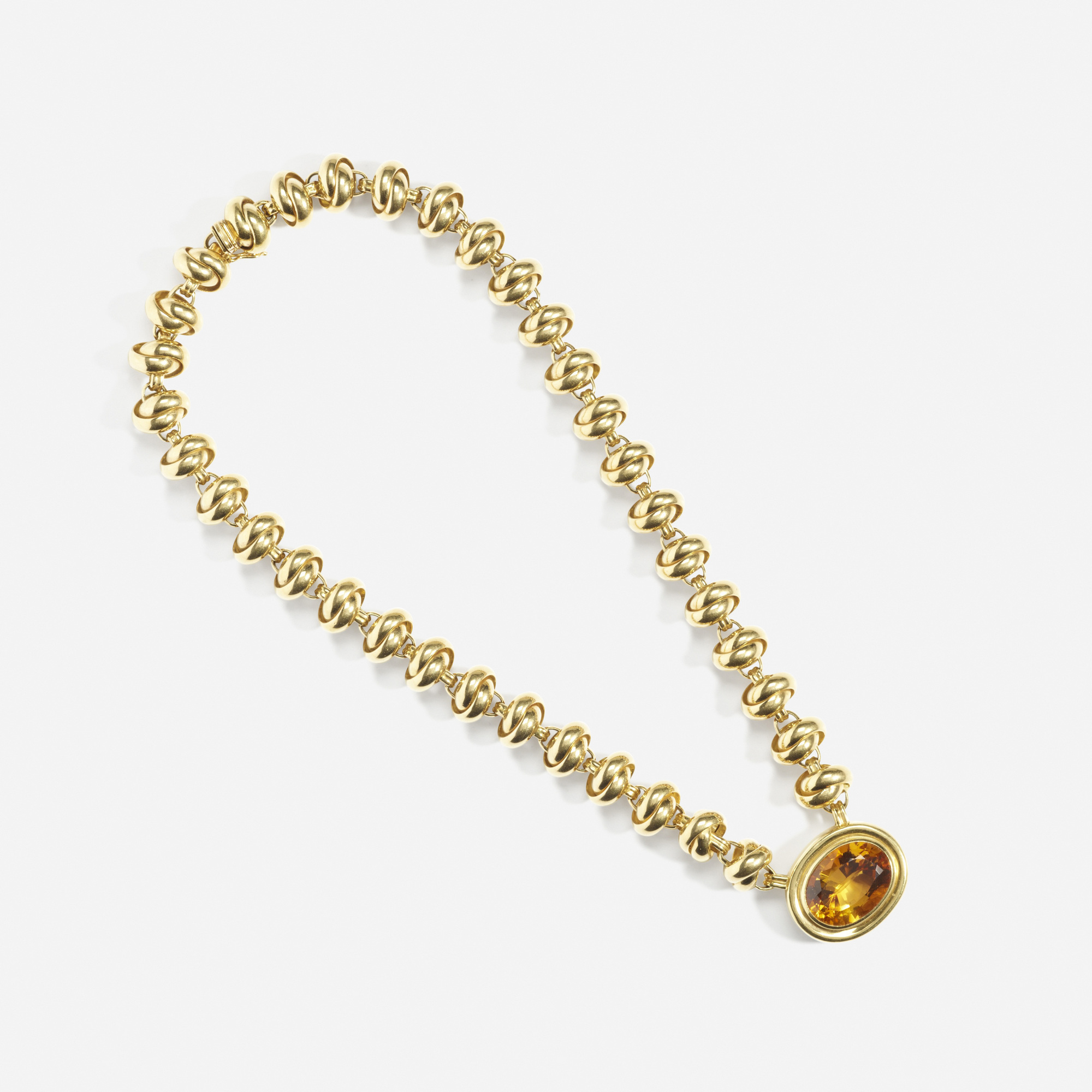 199: Paloma Picasso for Tiffany & Co. / A gold and citrine bracelet (2 of 2)