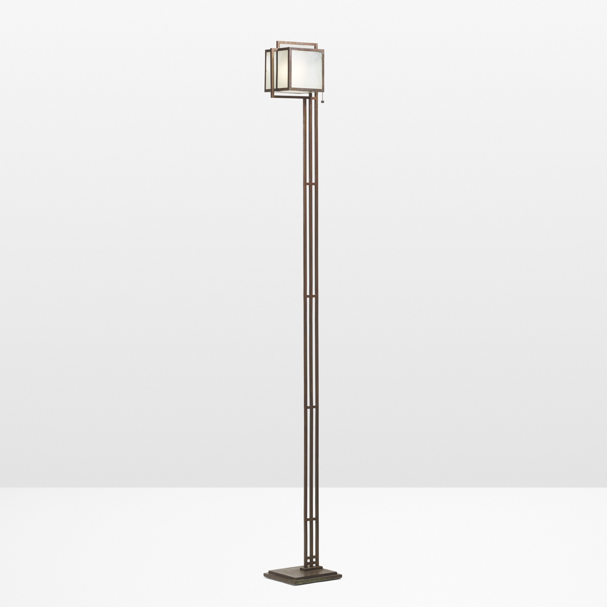 1: Frank Lloyd Wright / Rare Floor Lamp From The John Storer House,  Hollywood