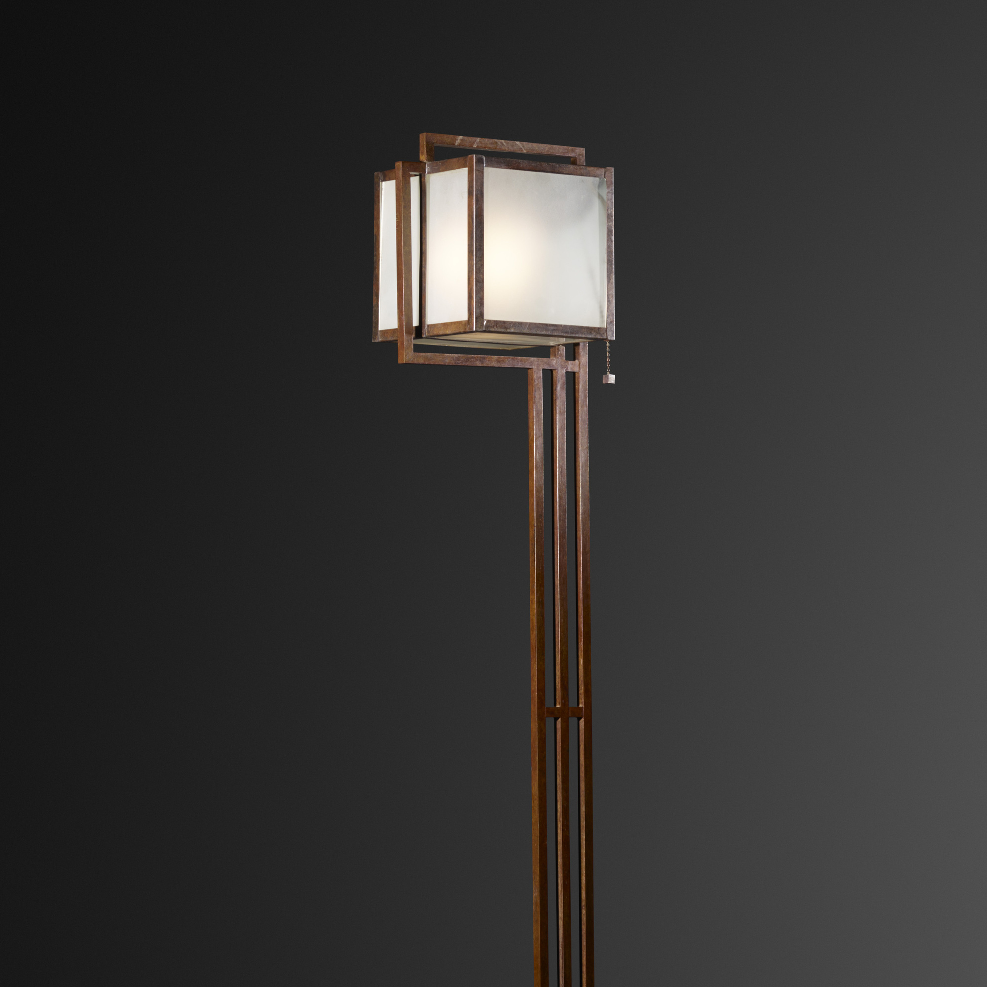 Frank Lloyd Wright Flooring : Frank lloyd wright rare floor lamp from the john