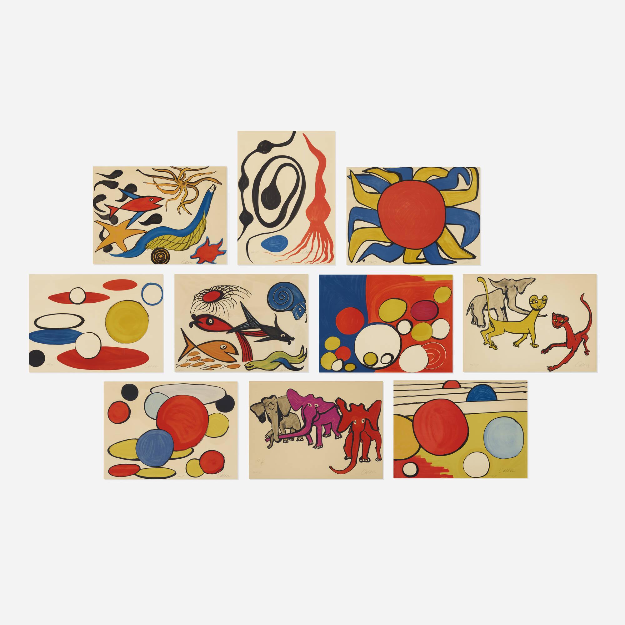 200: Alexander Calder / Our Unfinished Revolution (complete portfolio of ten works) (1 of 2)
