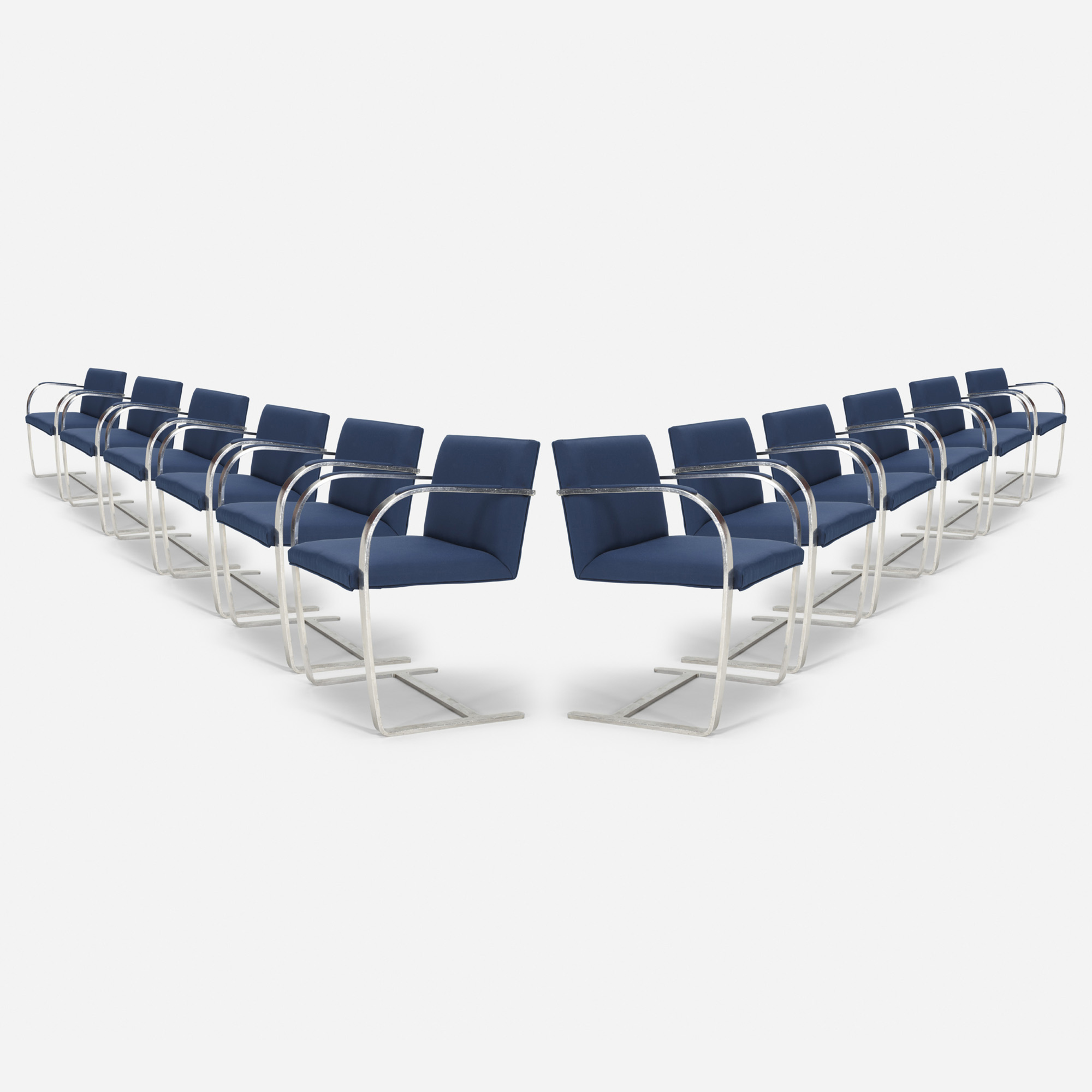 201: Ludwig Mies van der Rohe / Brno chairs from The Four Seasons, set of twelve (1 of 1)