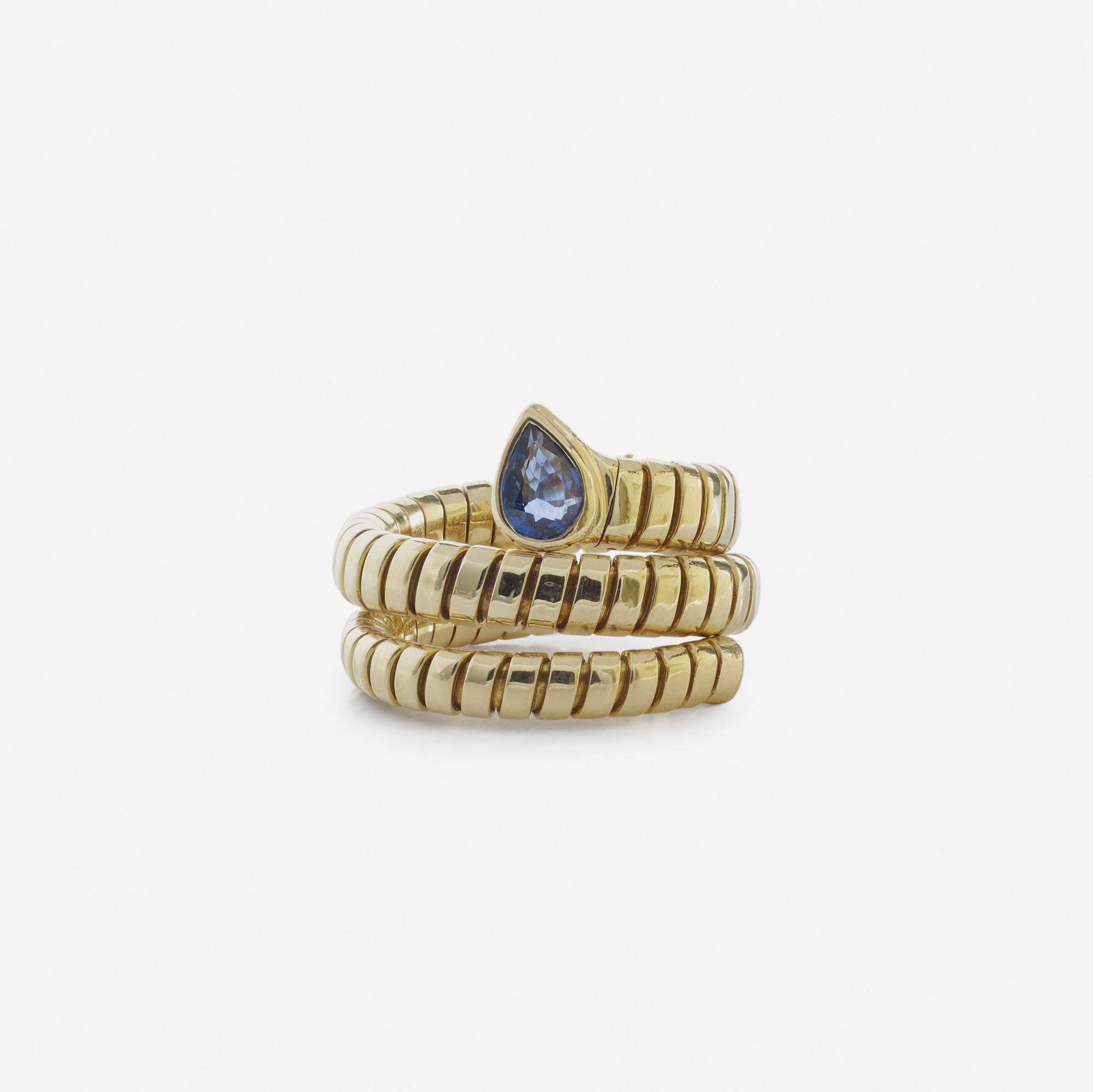 201: Bulgari / A gold and sapphire Tubogas ring (2 of 2)