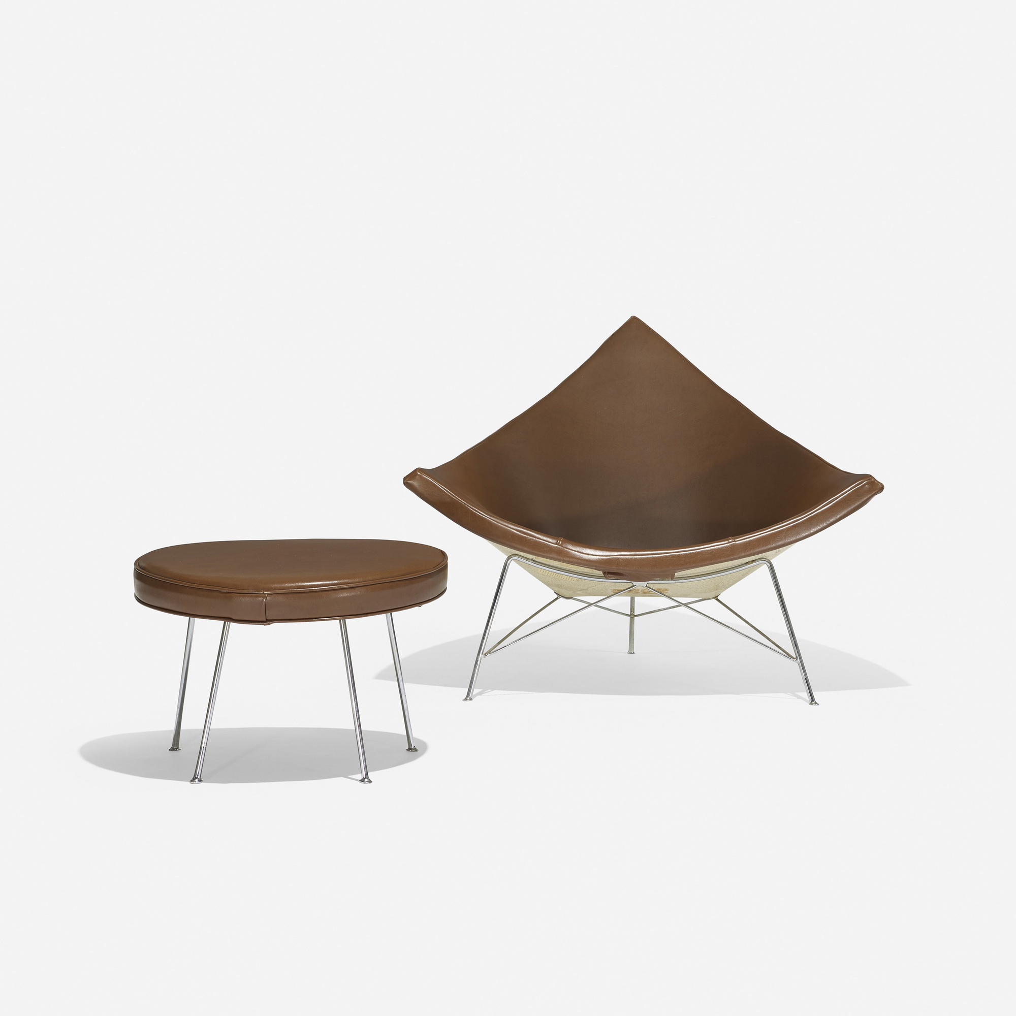 202 George Nelson Ociates Coconut Chair And Ottoman 1 Of