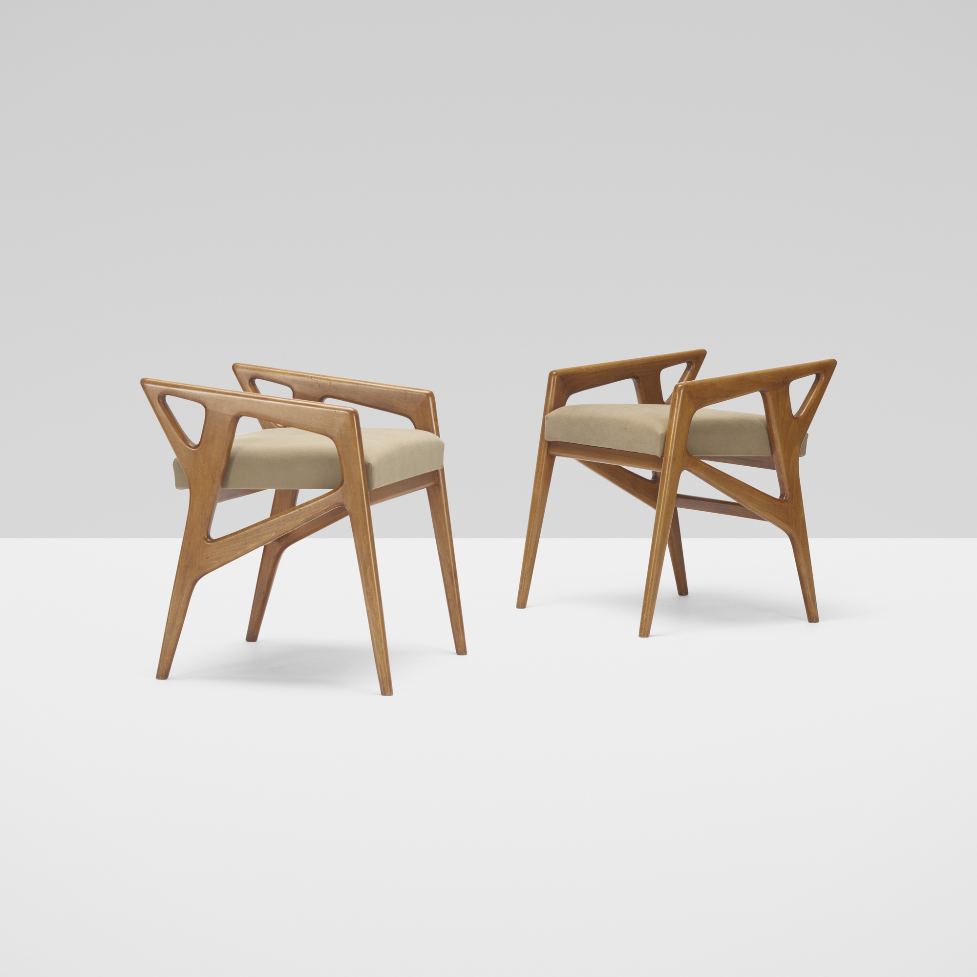 202: Gio Ponti / benches, pair (1 of 3)