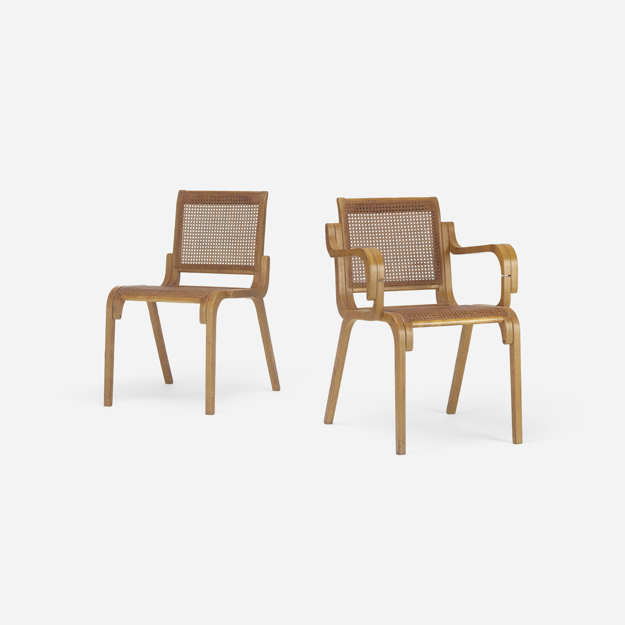 202: Marcel Breuer / rare prototype armchair and side chair (1 of 3)