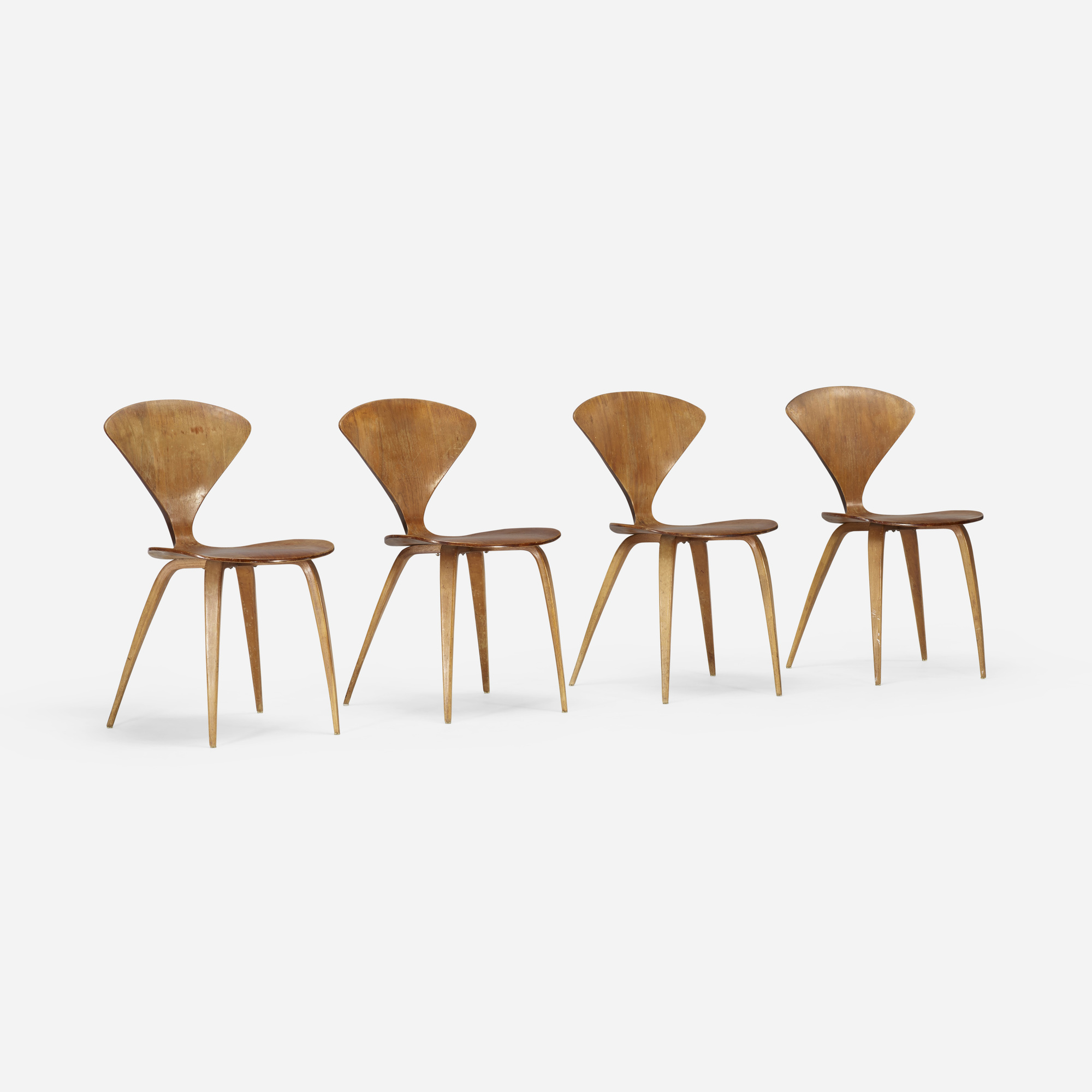 202: Norman Cherner / dining chairs, set of four (1 of 4)