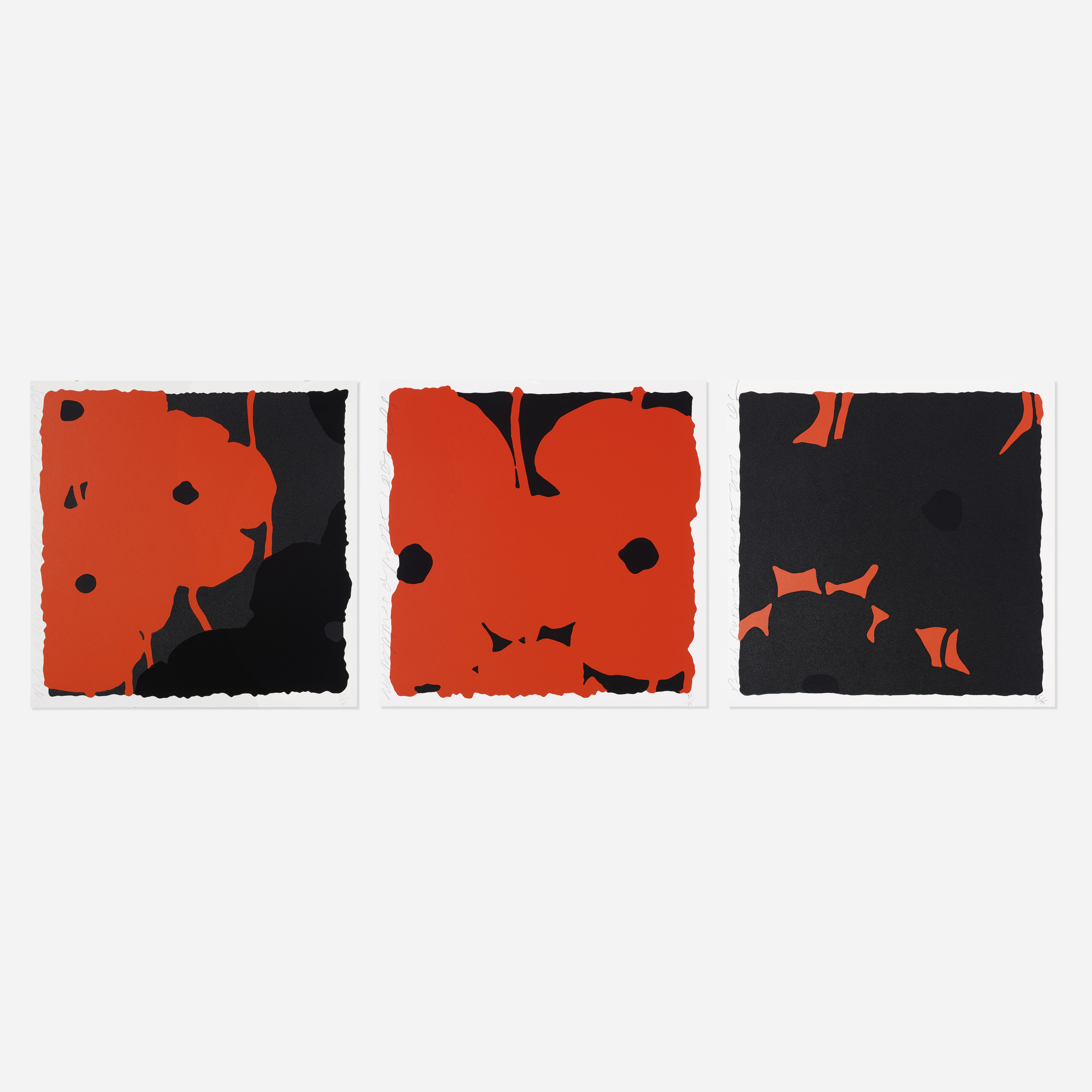 202: Donald Sultan / Poppies (three works) (1 of 1)