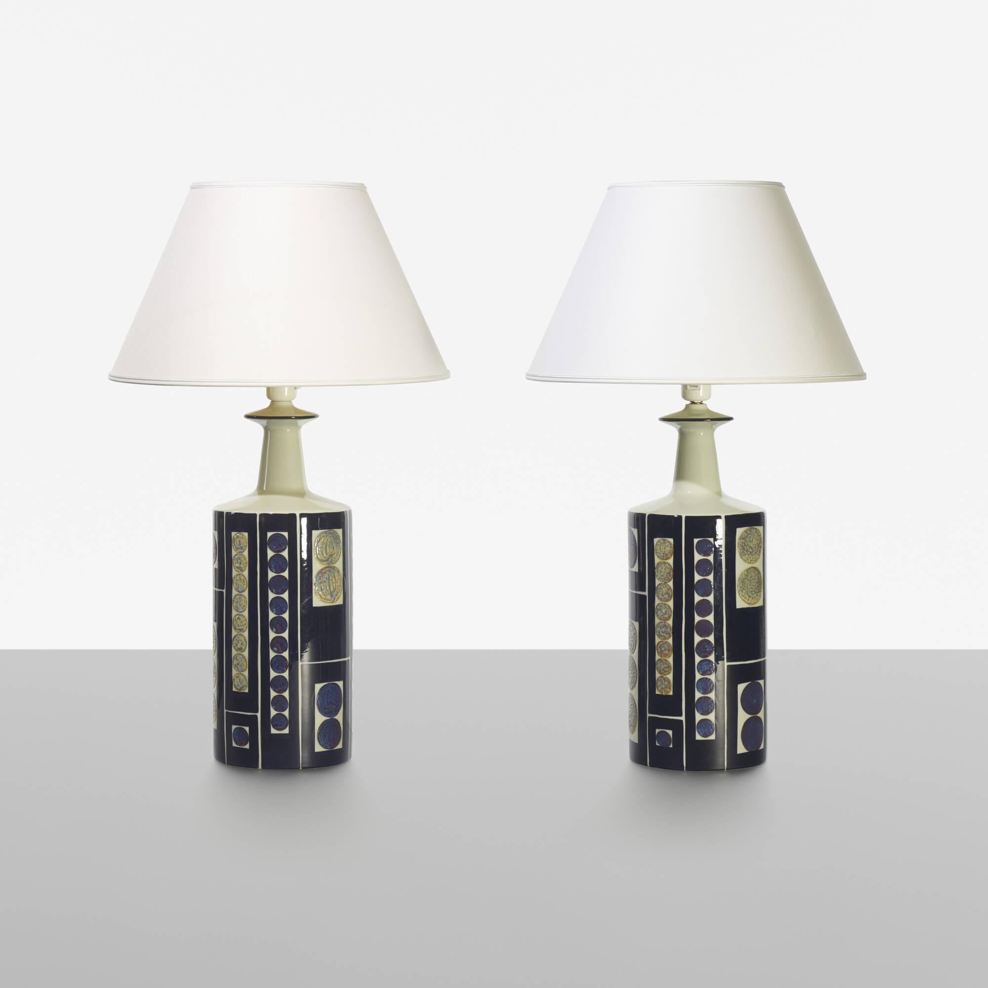 202: Royal Copenhagen / table lamps, pair (1 of 4)