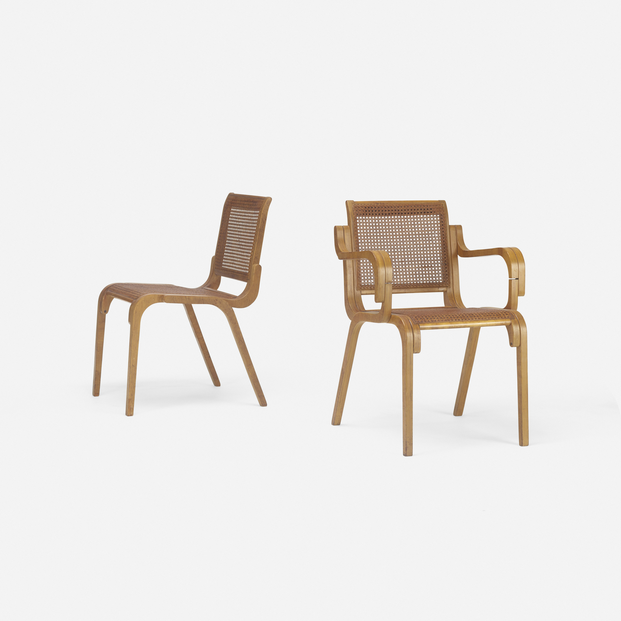 202: Marcel Breuer / rare prototype armchair and side chair (2 of 3)