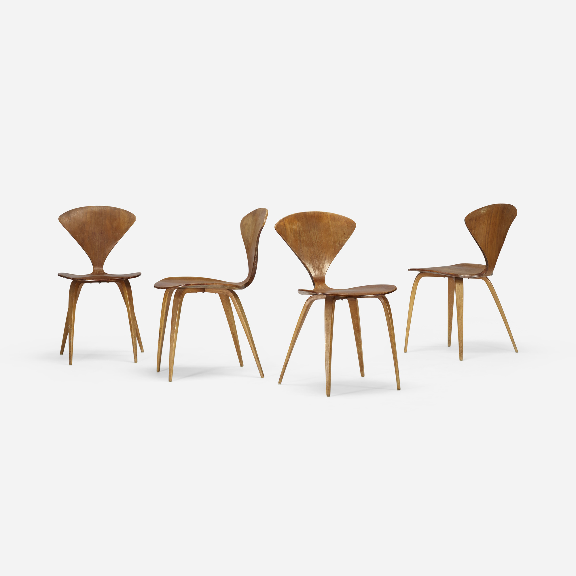 202: Norman Cherner / dining chairs, set of four (3 of 4)