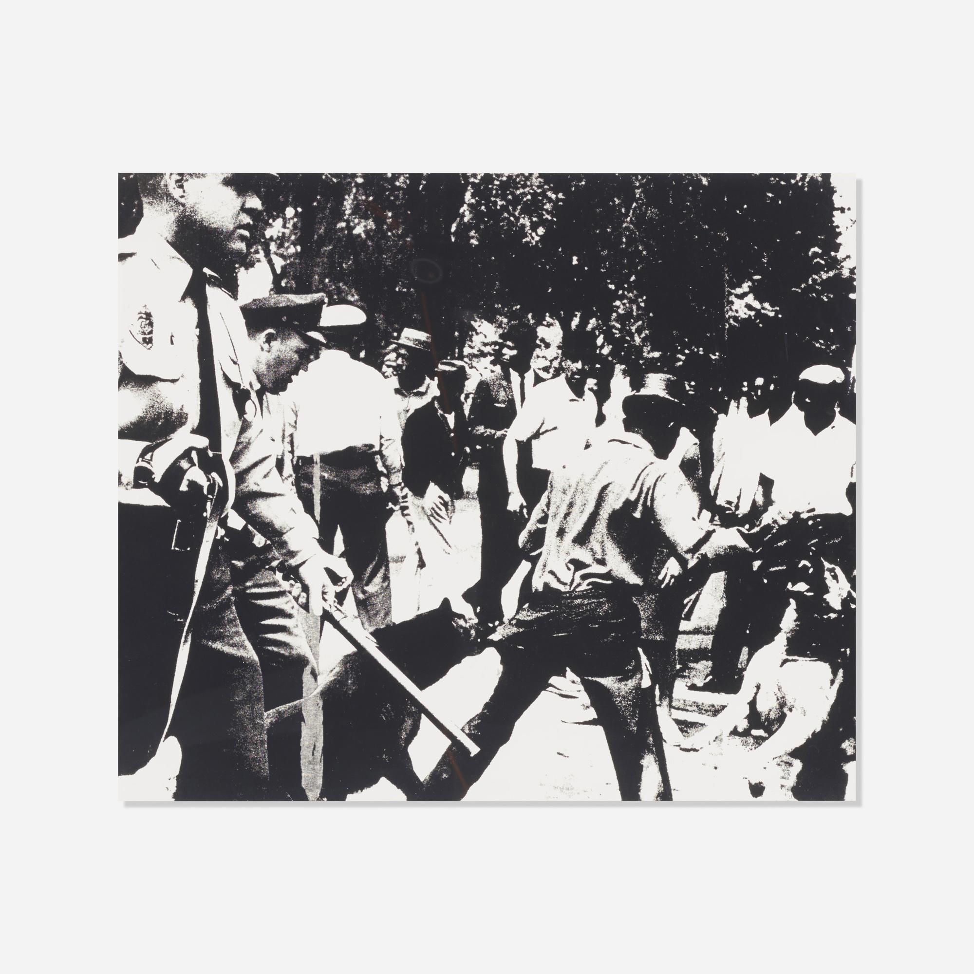203: Andy Warhol / Birmingham Race Riot (from the Ten Works X Ten Painters portfolio) (1 of 1)